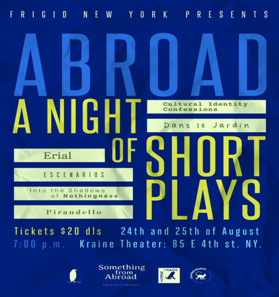 """Casey McDougal's play, """"Dans le Jardin,"""" had its premiere in New York City in August 2018 at the Night of Short Plays Festival"""