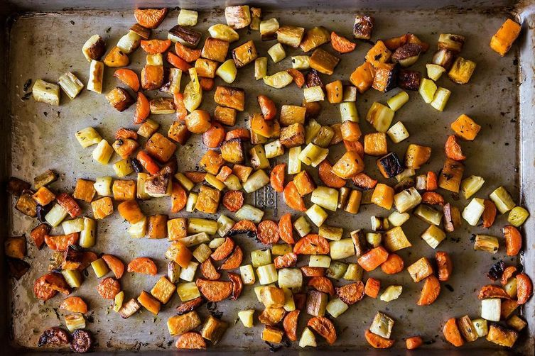 If you need a recipe, check out this one for Crisp and Tender Roasted Root Vegetables https://food52.com/recipes/21517-crisp-and-tender-roasted-root-vegetables