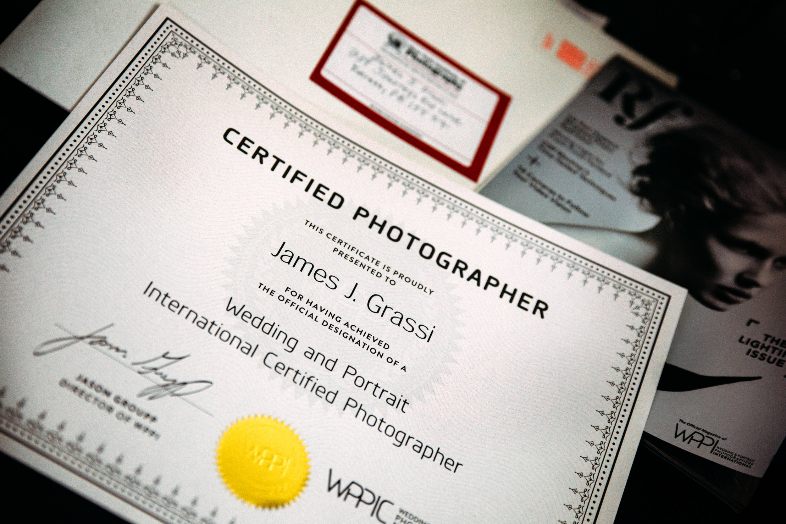 - James J. Grassi PhotographyWPPI Certified Professional Photographer239 Journey's End Lane Everett, PA 15537jamesjgrassi@yahoo.com
