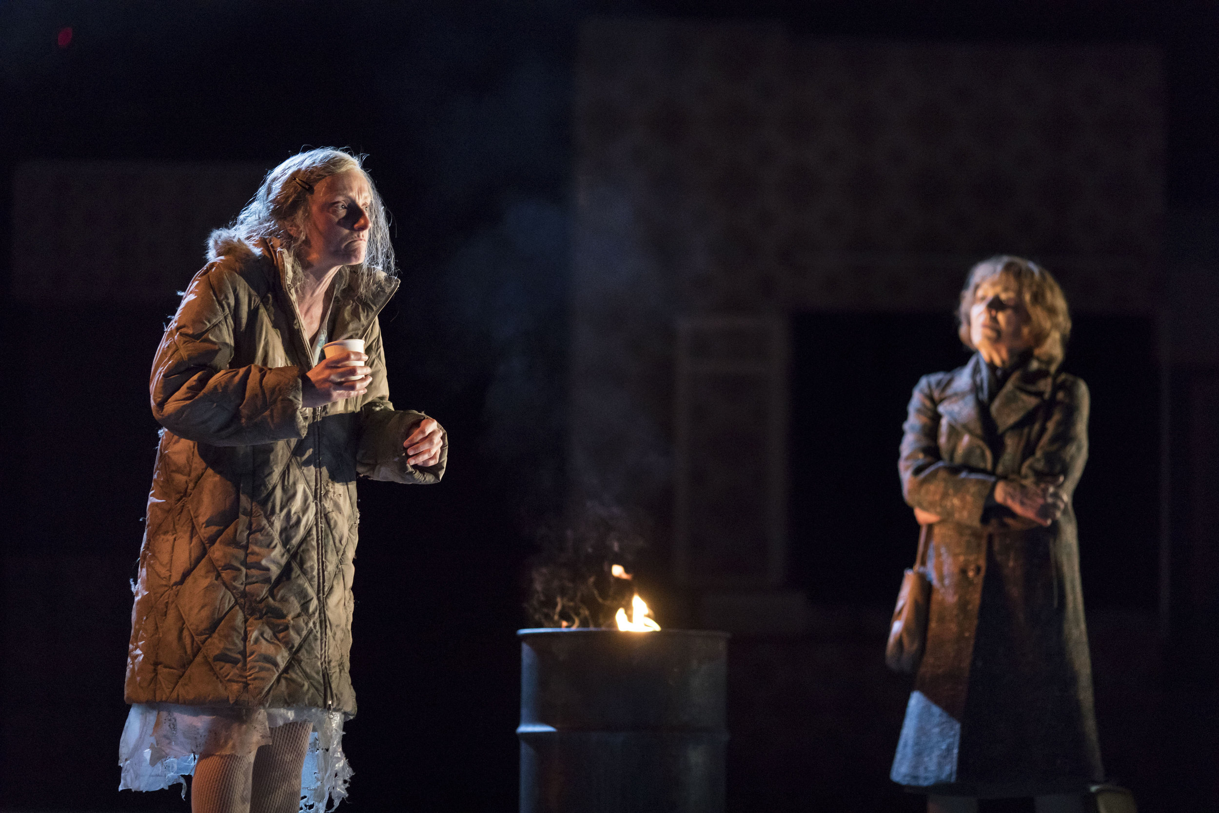 18. Amanda Lawrence (A Homeless Woman) and Susan Brown (Hannah) in Angels in America - Millennium Approaches (c) Helen Maybanks.jpg