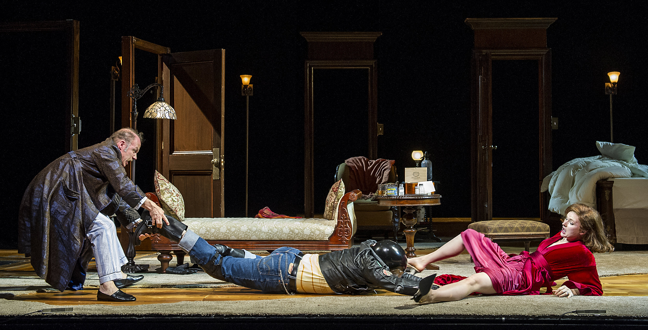 Richard Hollis, Matthew Greer and Claire Brownell in BSC's TAKING STEPS, Photo by Daniel Rader.jpg