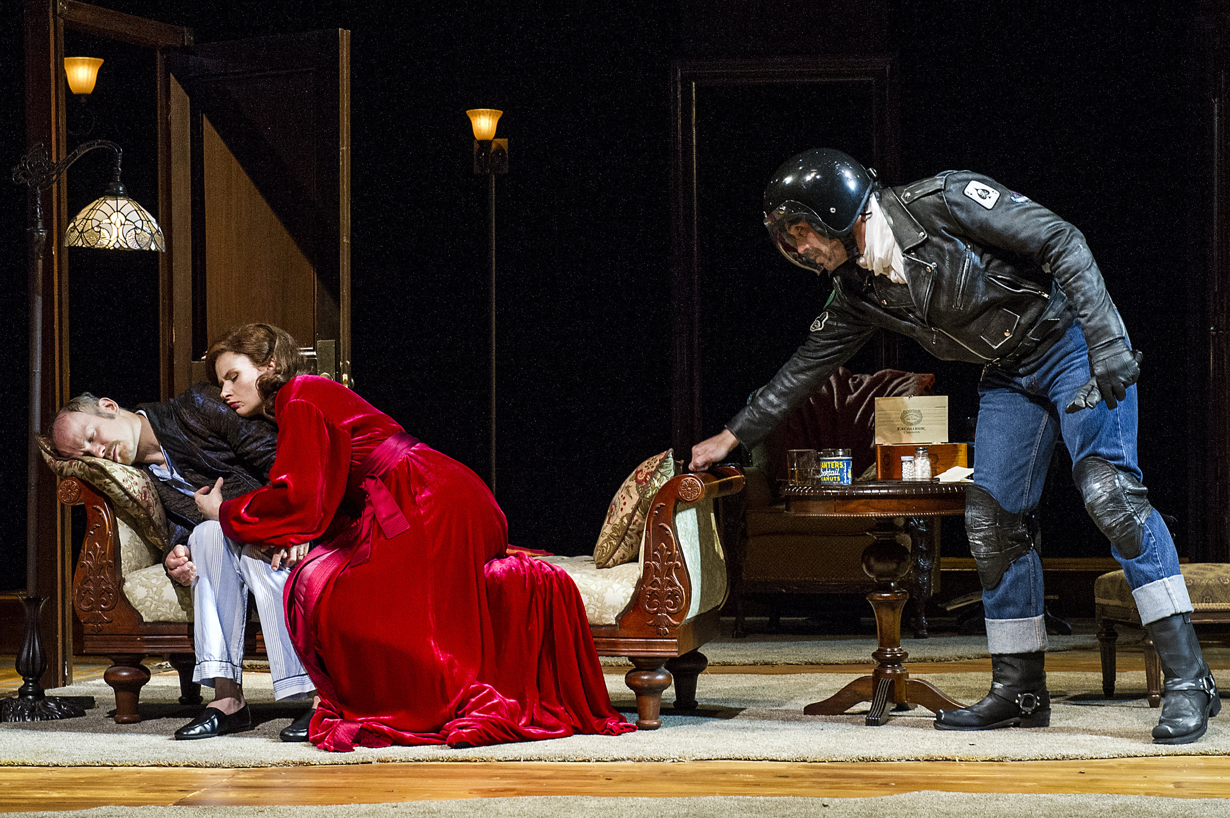 Richard Hollis, Claire Brownell, and Matthew Greer in BSC's TAKING STEPS, Photo by Daniel Rader.jpg