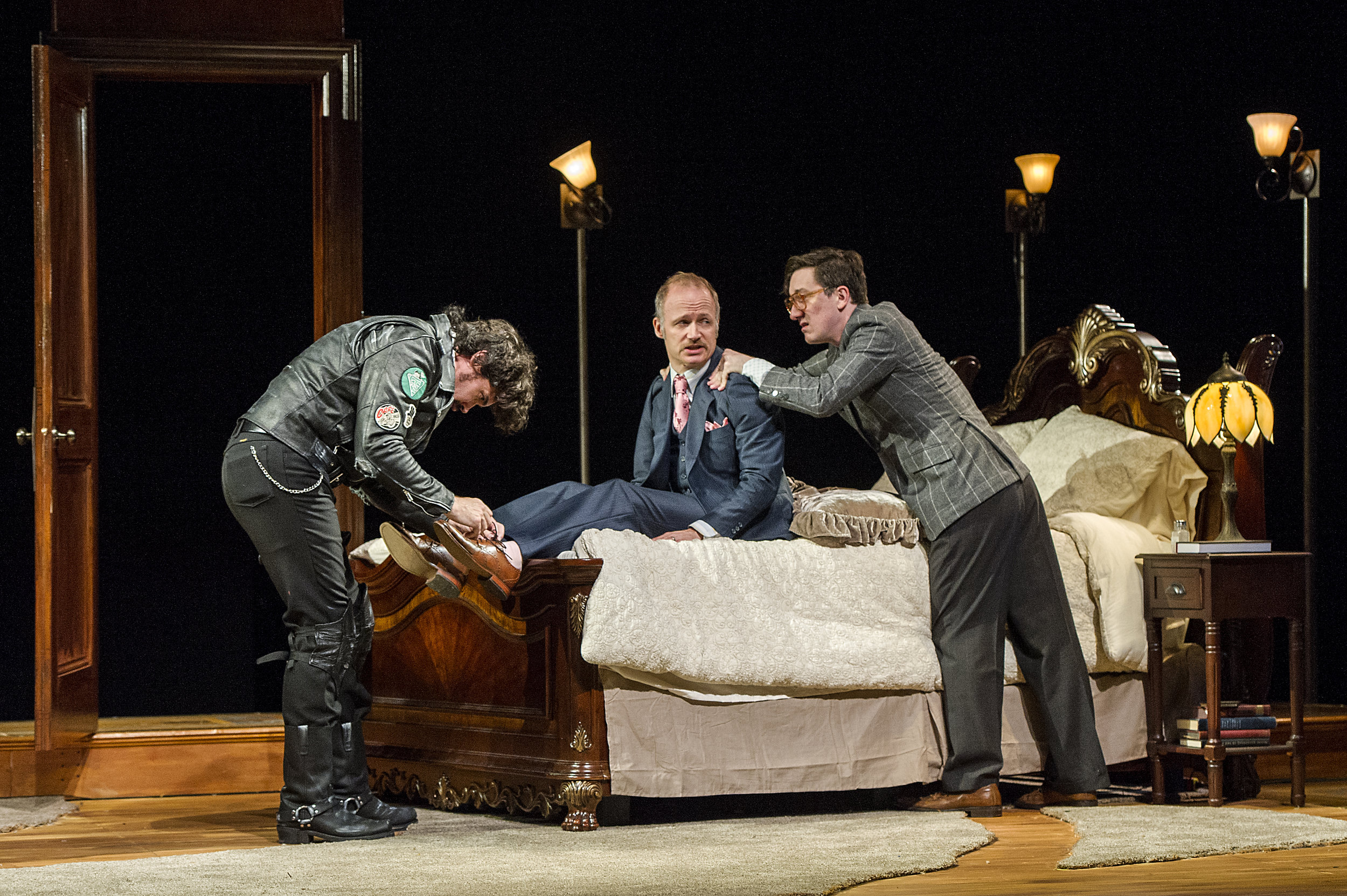 Matthew Greer, Richard Hollis, and Carson Elrod in BSC's TAKING STEPS, Photo by Daniel Rader.jpg