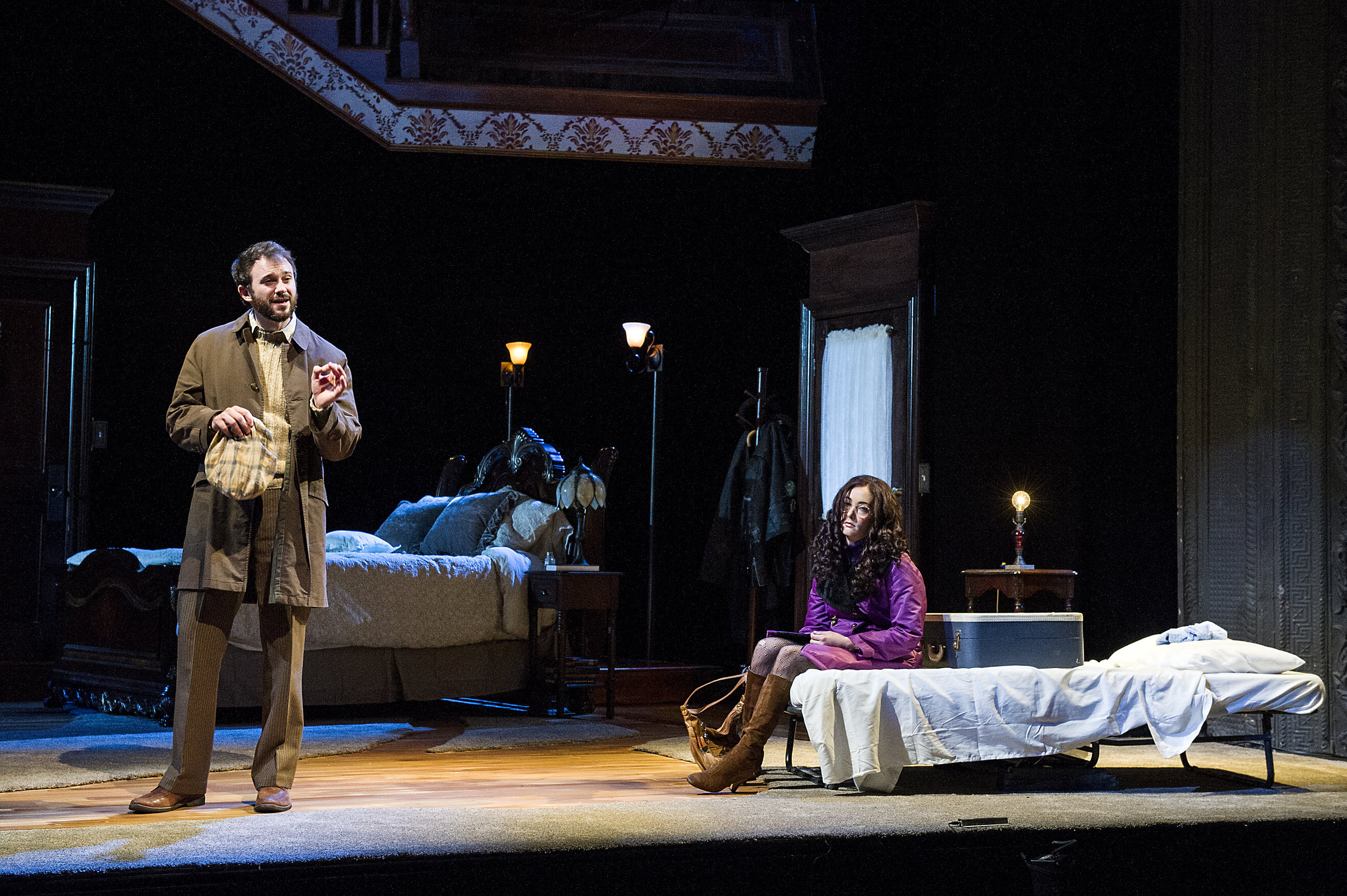 Matthew Greer and Helen Cespedes in BSC's TAKING STEPS, Photo by Daniel Rader.jpg