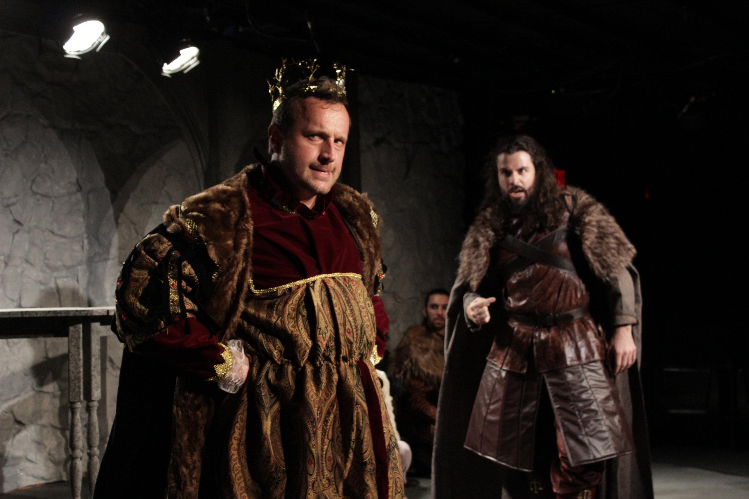Ryan Pifher, Milo Shearer as King Robert and Ned Stark.JPG