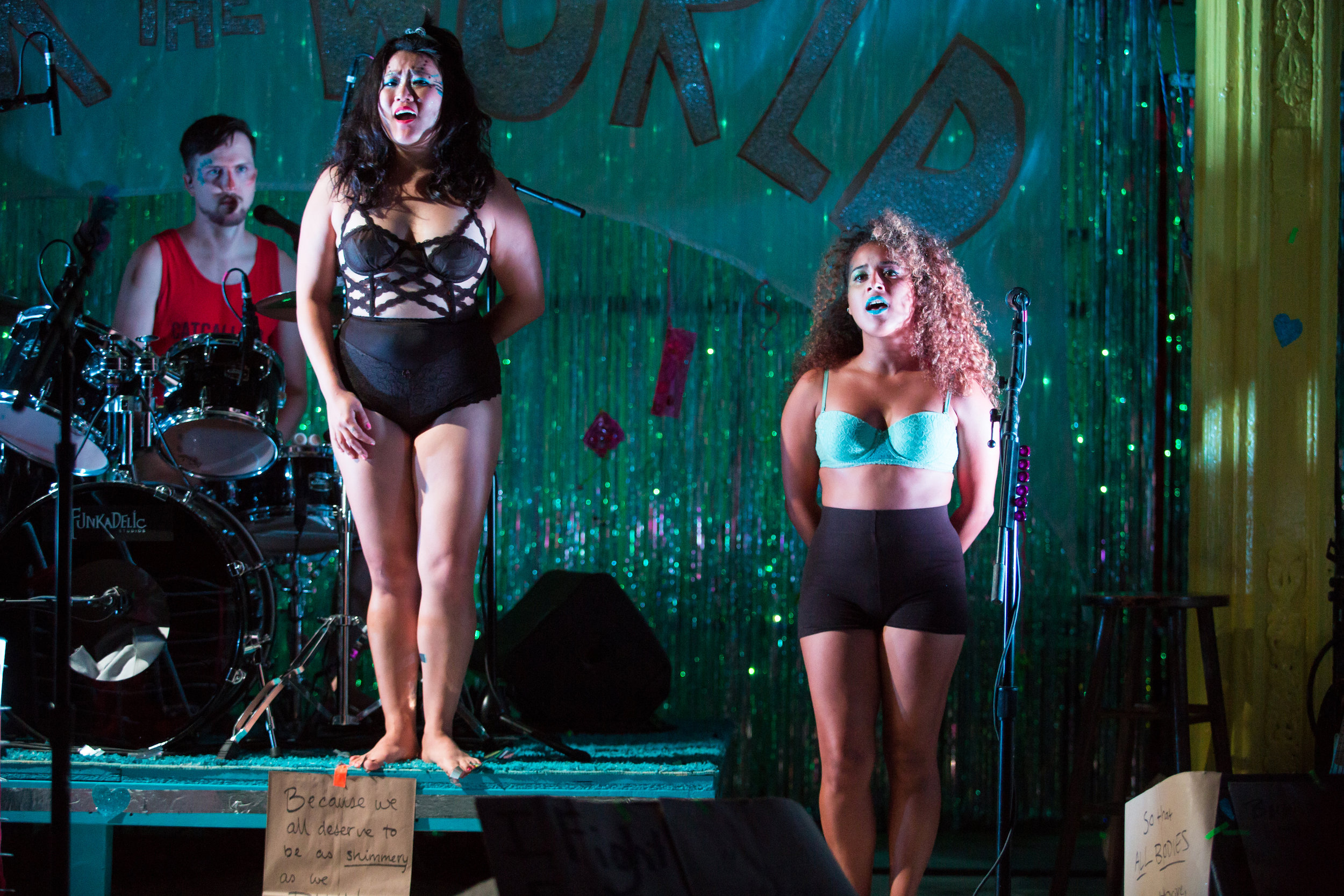 Diana Oh and Rocky Vega in {my lingerie play} at Rattlestick Playwrights Theater - photo by Jeremy Daniel.jpg