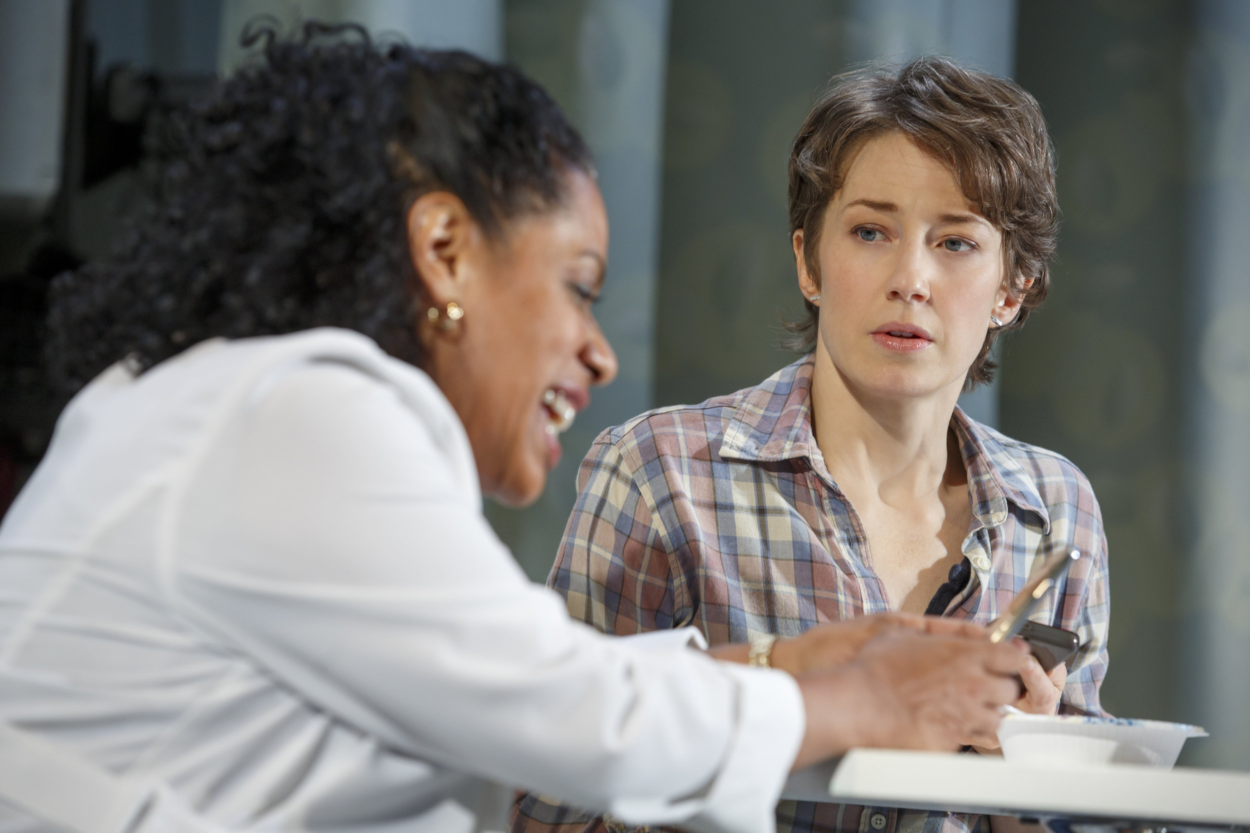 Liza Colón-Zayas and Carrie Coon in MARY JANE at New York Theatre Workshop, Photo by Joan Marcus.jpg