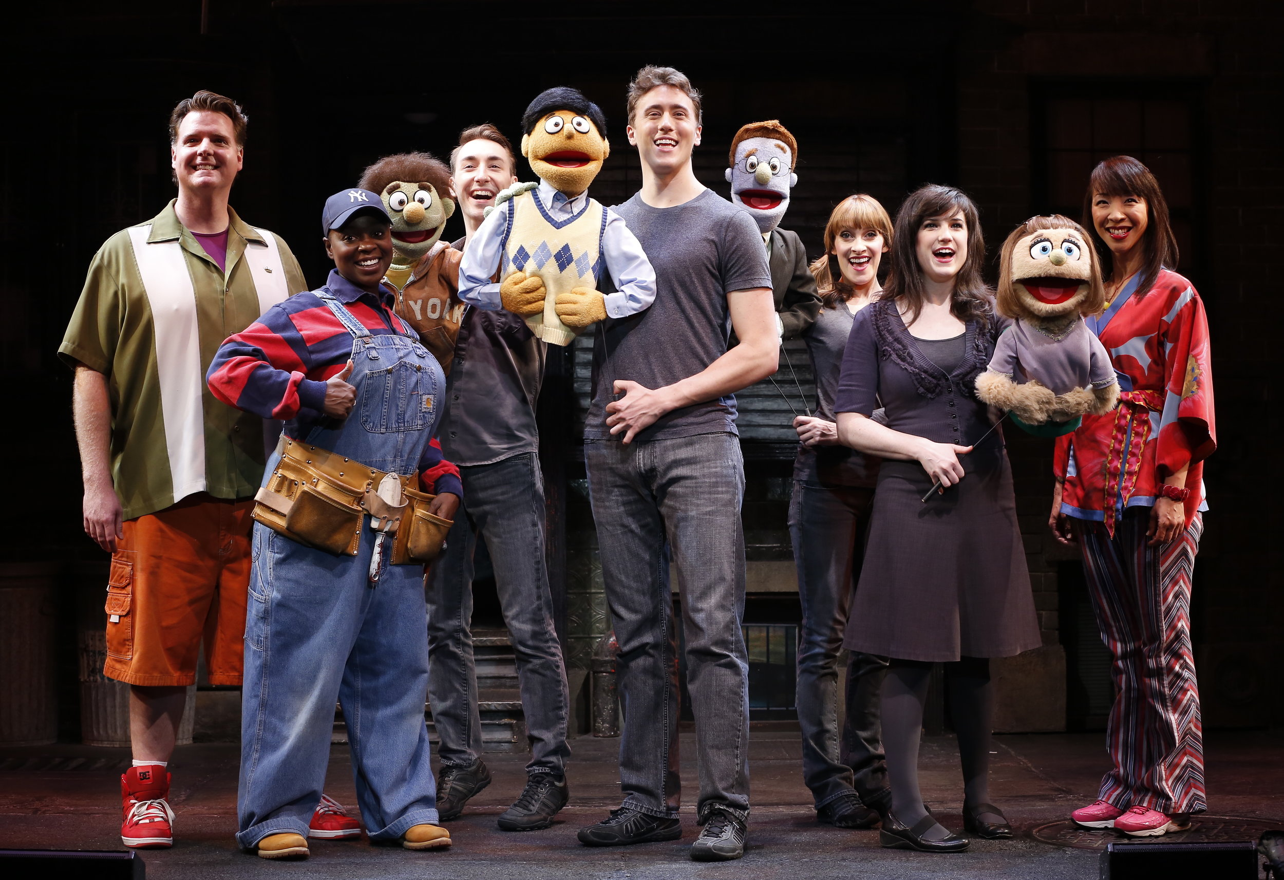 The cast of Avenue Q photo by Carol Rosegg .JPG