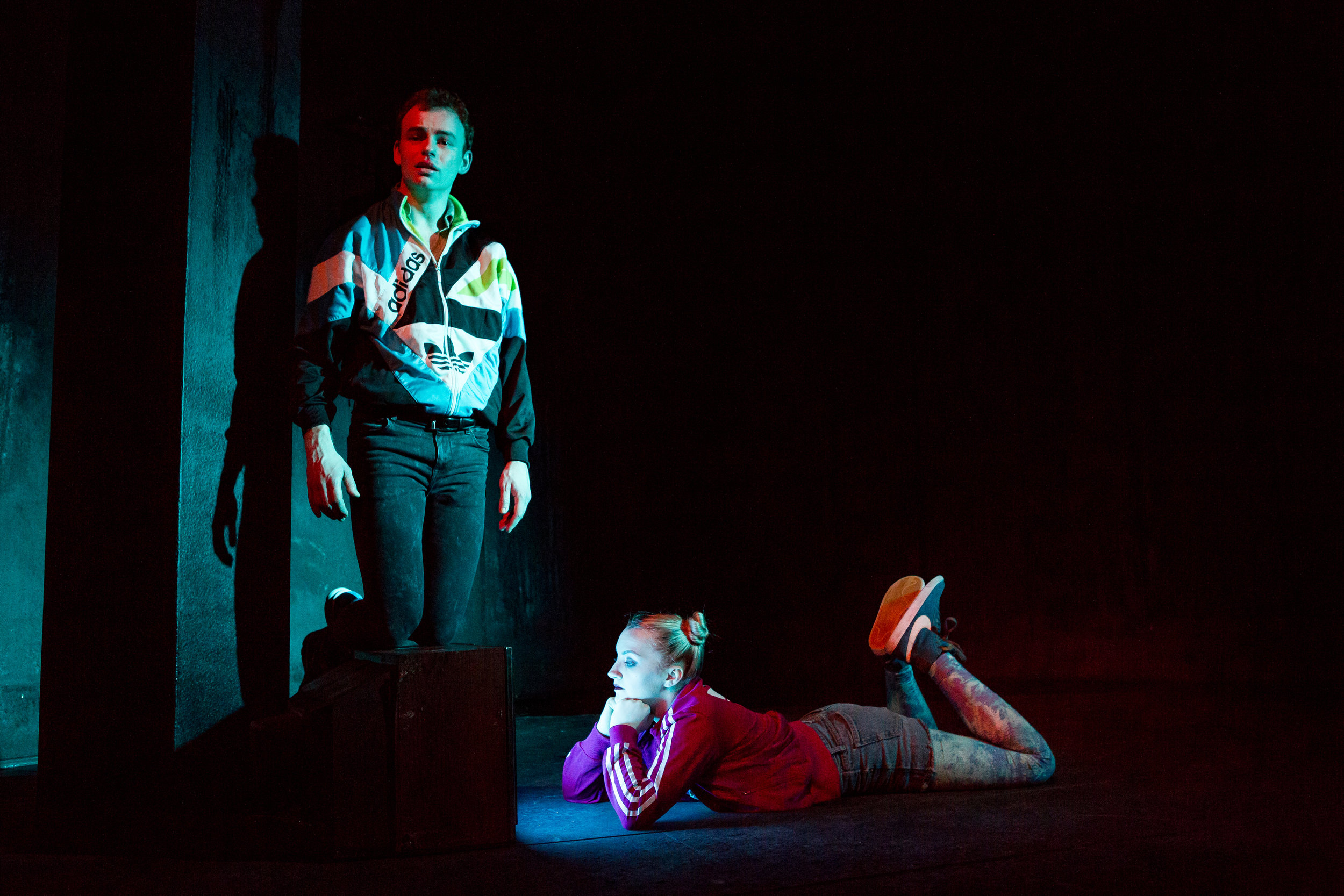 Colin Campbell and Evanna Lynch in DISCO PIGS at Irish Rep - photos by Jeremy Daniel (5).JPG