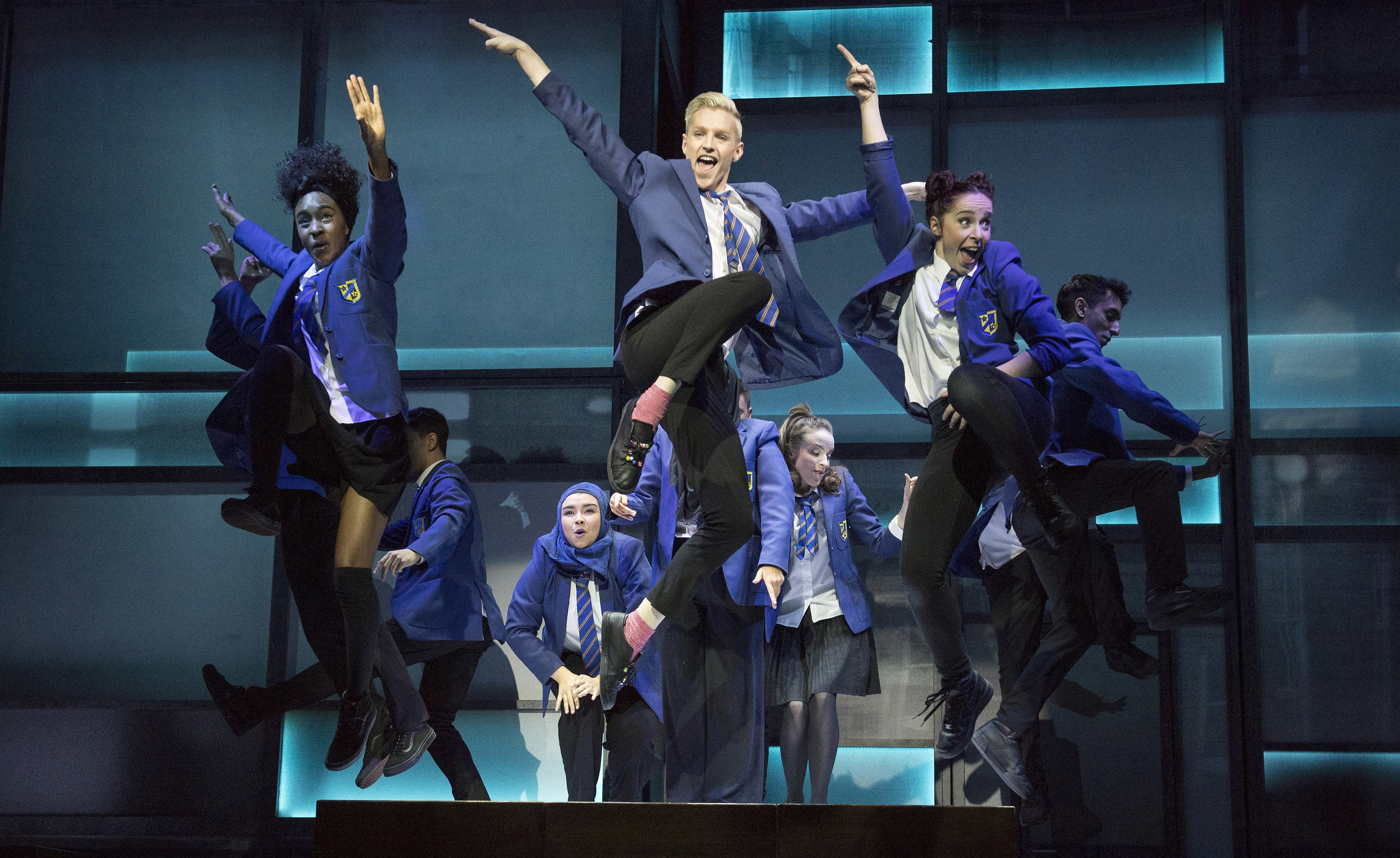Cast of Everybody's Talking About Jamie at the Apollo Theatre. Photos by Alastair Muir (2).jpg