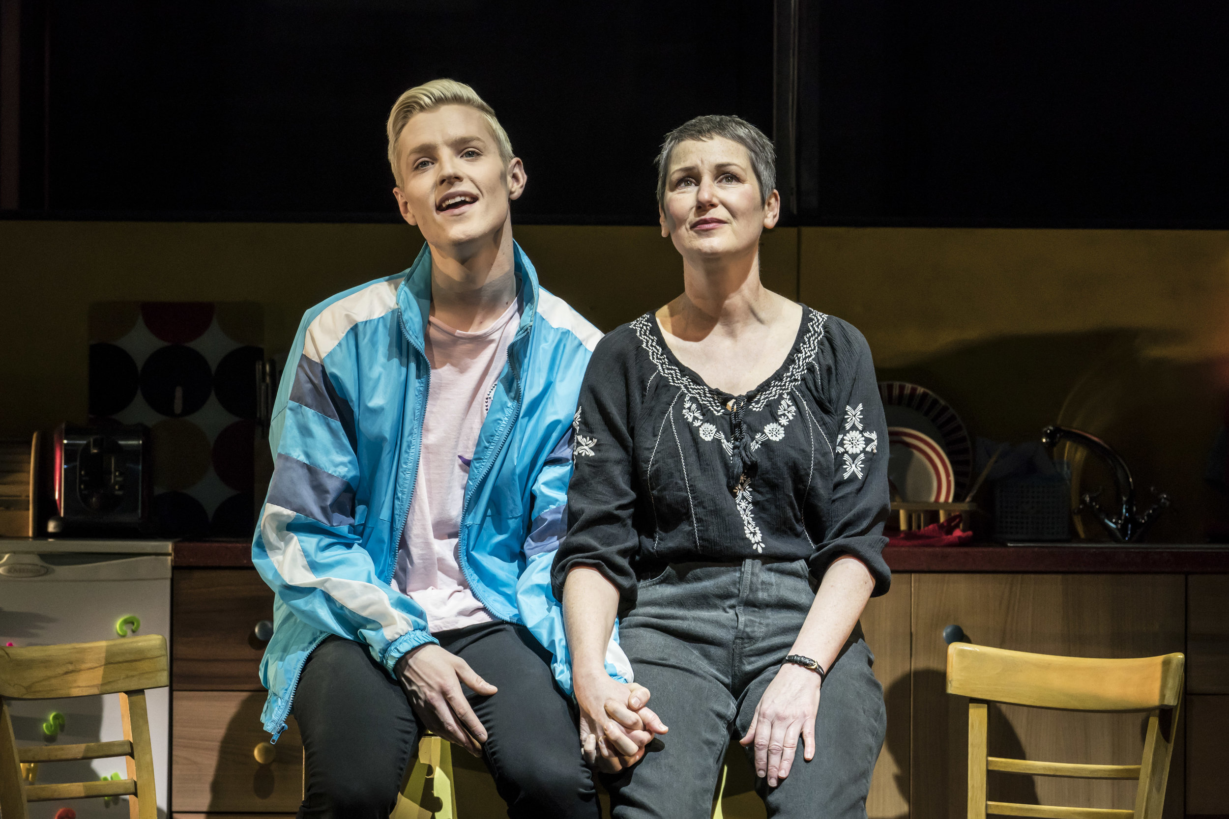John McCrea (Jamie New) and Josie Walker (Margaret New) in Everybody's Talking About Jamie at the Apollo Theatre. Photo by Johan Persson.jpg