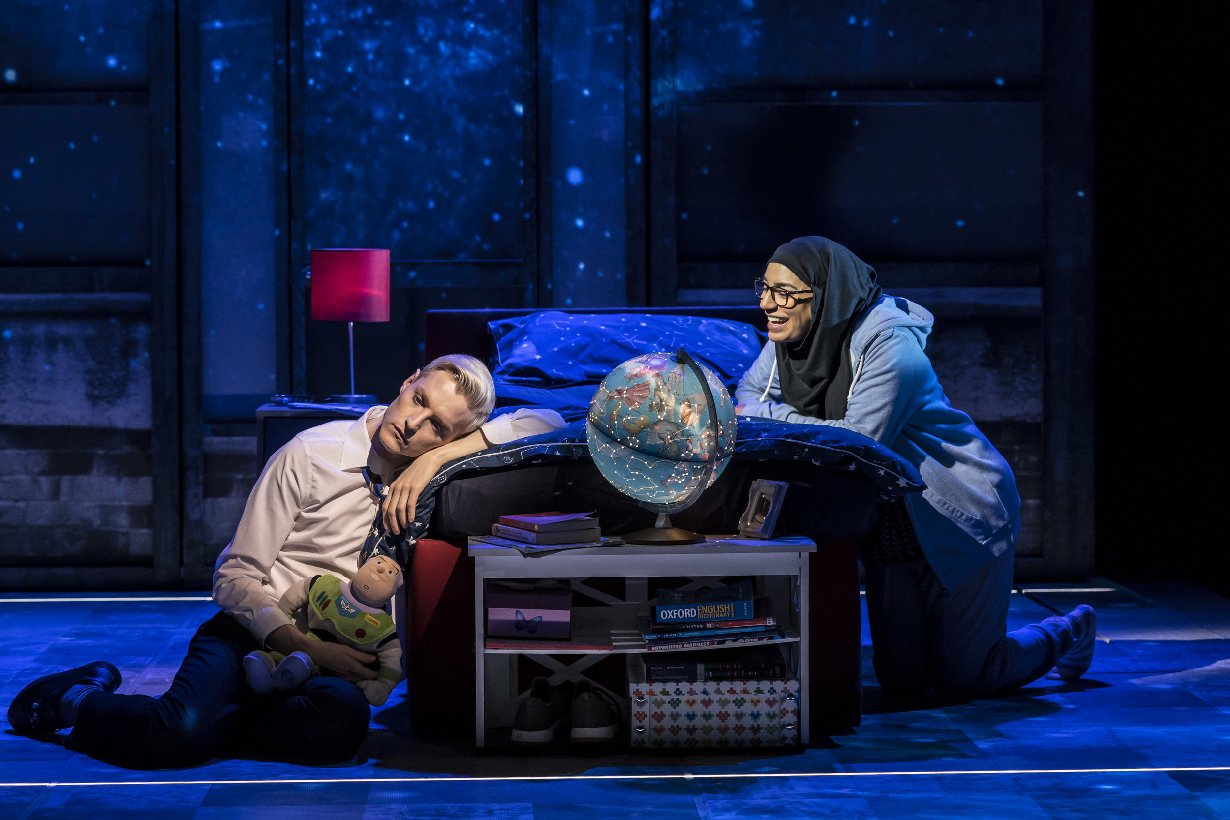 John McCrea (Jamie New) and Lucie Shorthouse (Pritti Pasha) in Everybody's Talking About Jamie at the Apollo Theatre. Photo by Johan Persson (2).jpg