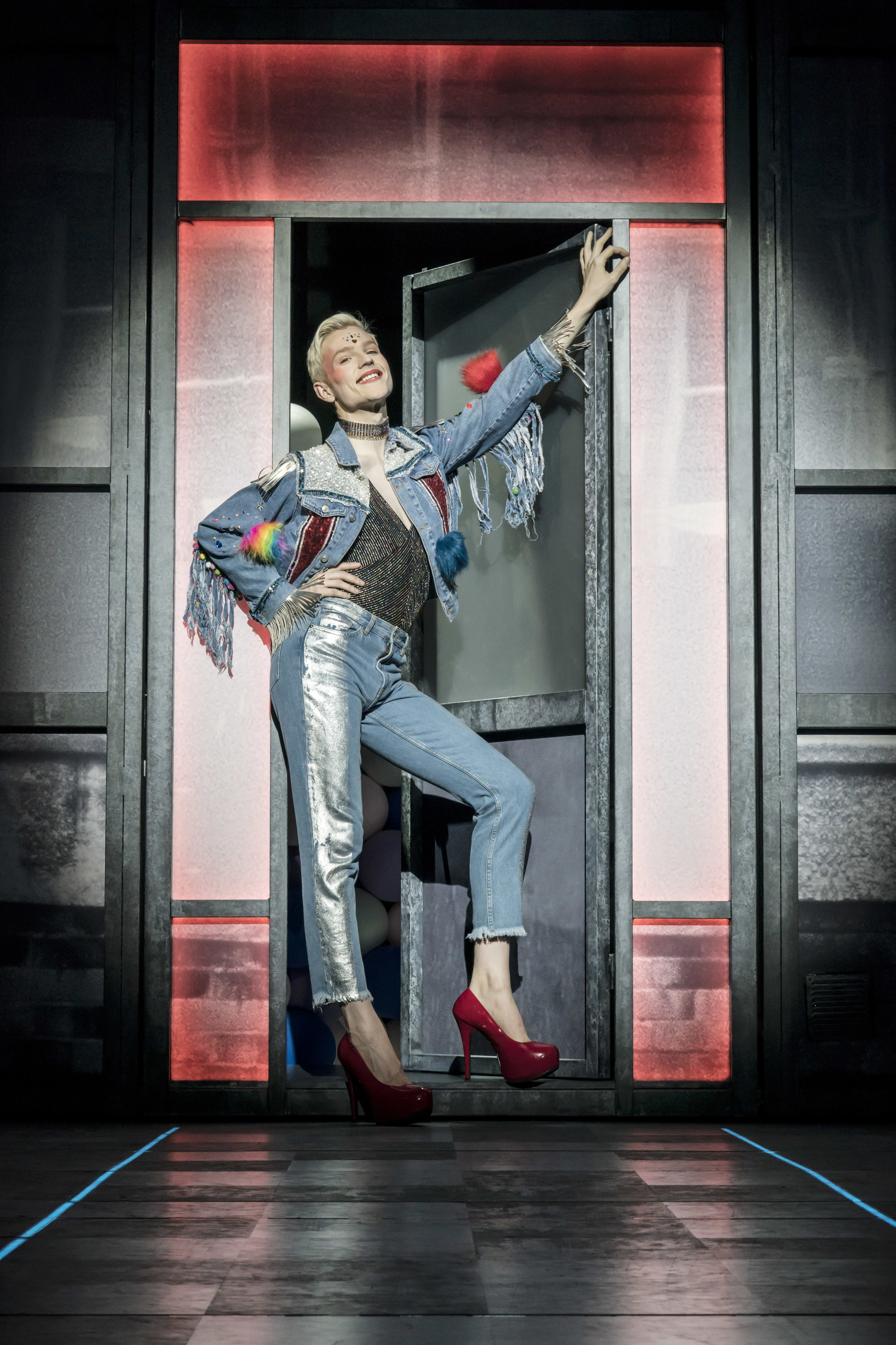 John McCrea (Jamie New) in Everybody's Talking About Jamie at the Apollo Theatre. Photo by Johan Persson.jpg