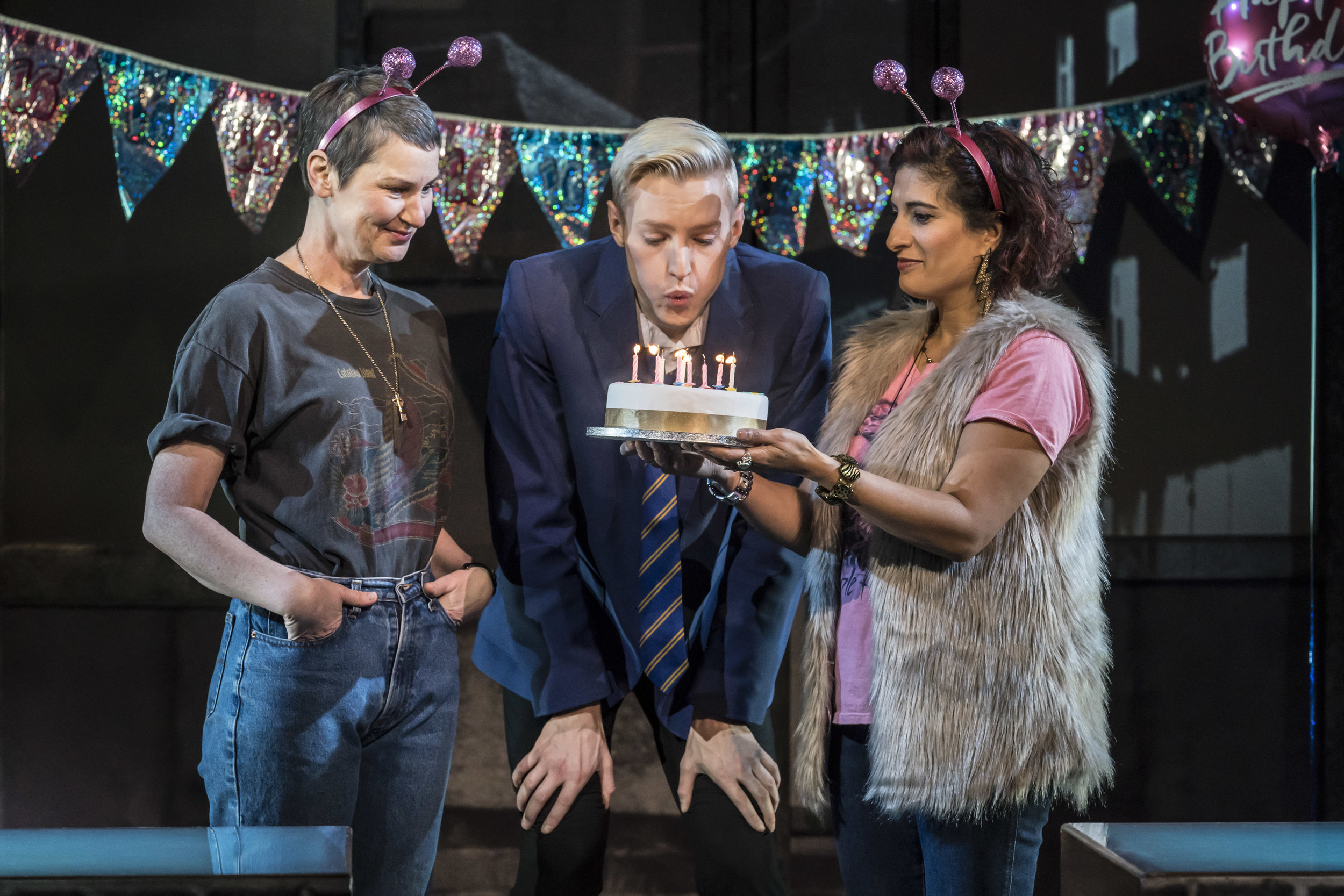 Josie Walker (Margaret New), John McCrea (Jamie New) and Mina Anwar (Ray) in Everybody's Talking About Jamie Apollo Theatre. Photo by Johan Persson.jpg