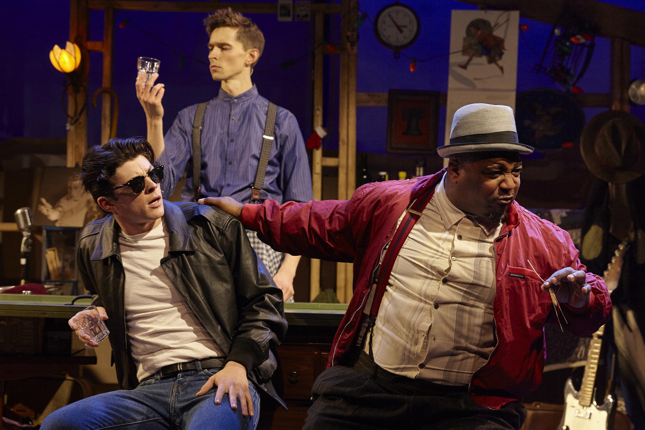 Adrian Blake Enscoe, Seth Clayton, DeMone in Pipeline Theatre Company's FOLK WANDERING, Photo by Suzi Sadler.jpg