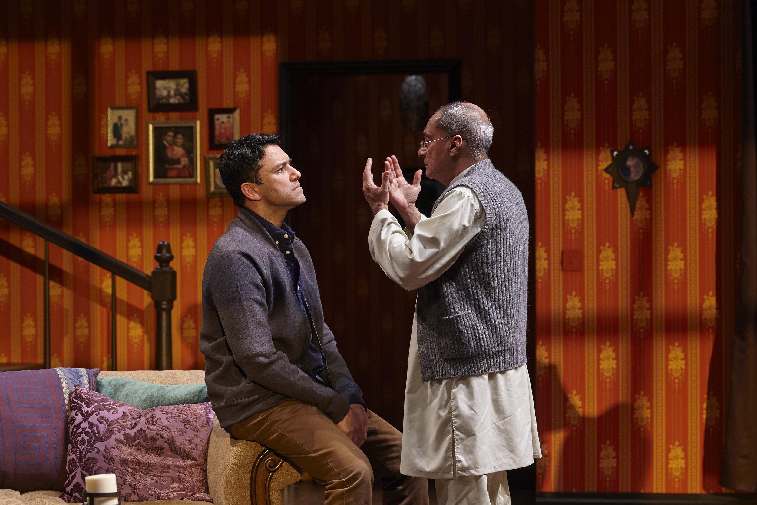 Sanjit De Silva and Ranjit Chowdhry in AN ORDINARY MUSLIM at New York Theatre Workshop - photo by Suzi Sadler.jpg