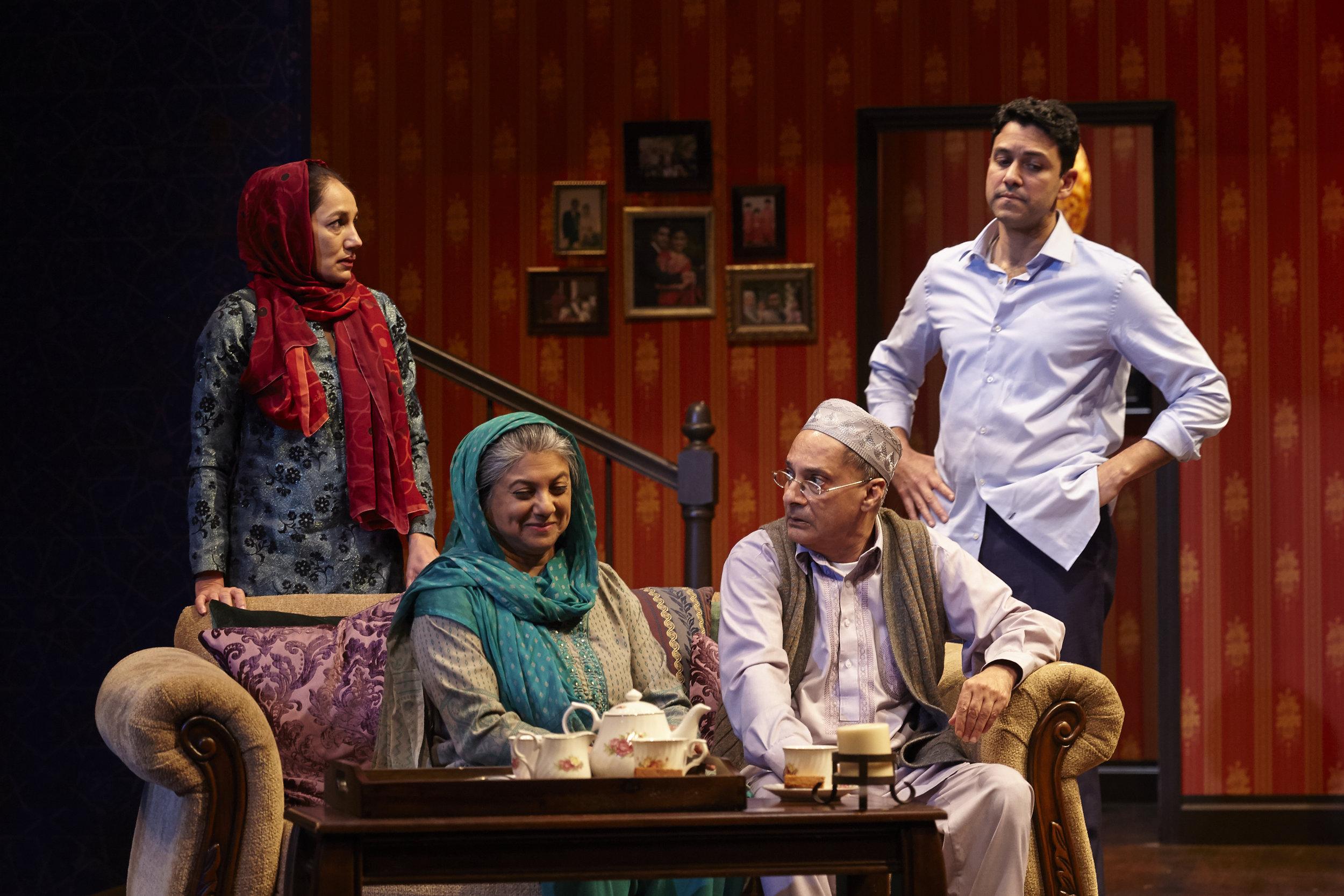 Purva Bedi, Rita Wolf, Ranjit Chowdhry and Sanjit De Silva in AN ORDINARY MUSLIM at New York Theatre Workshop - photo by Suzi Sadler.jpg