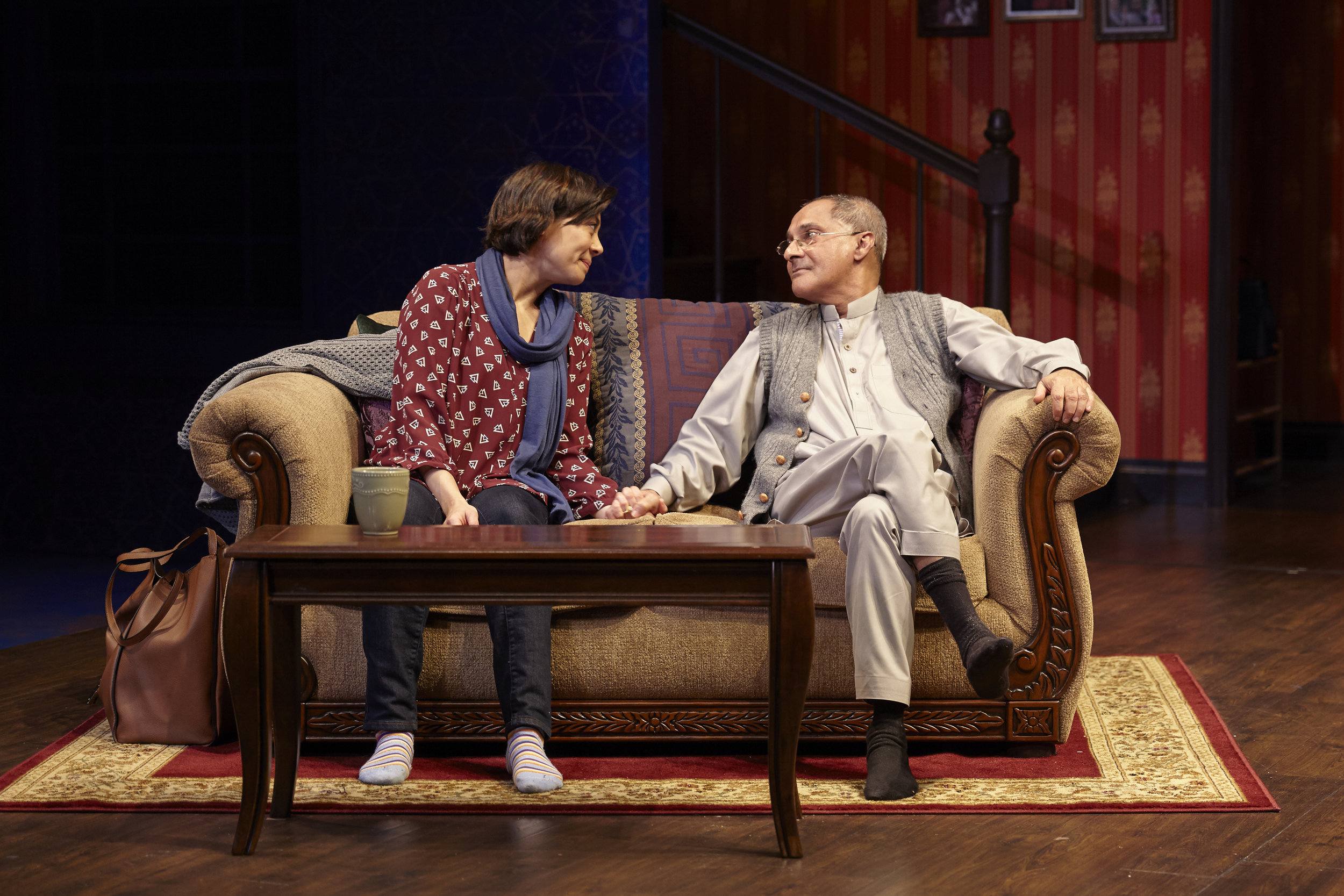 Angel Desai and Ranjit Chowdhry in AN ORDINARY MUSLIM at New York Theatre Workshop - photo by Suzi Sadler.jpg