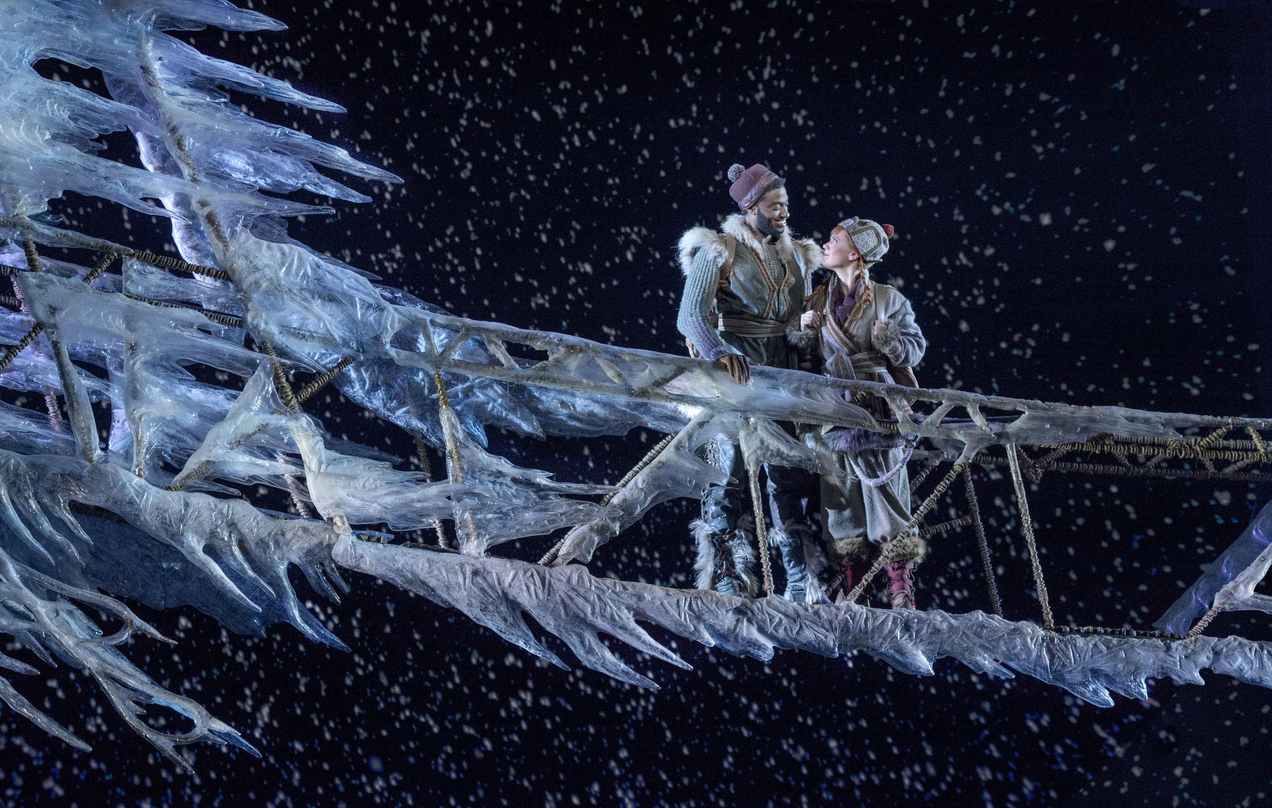 Jelani Alladin (Kristoff) and Patti Murin (Anna) in FROZEN on Broadway. Photo by Deen van Meer.jpg