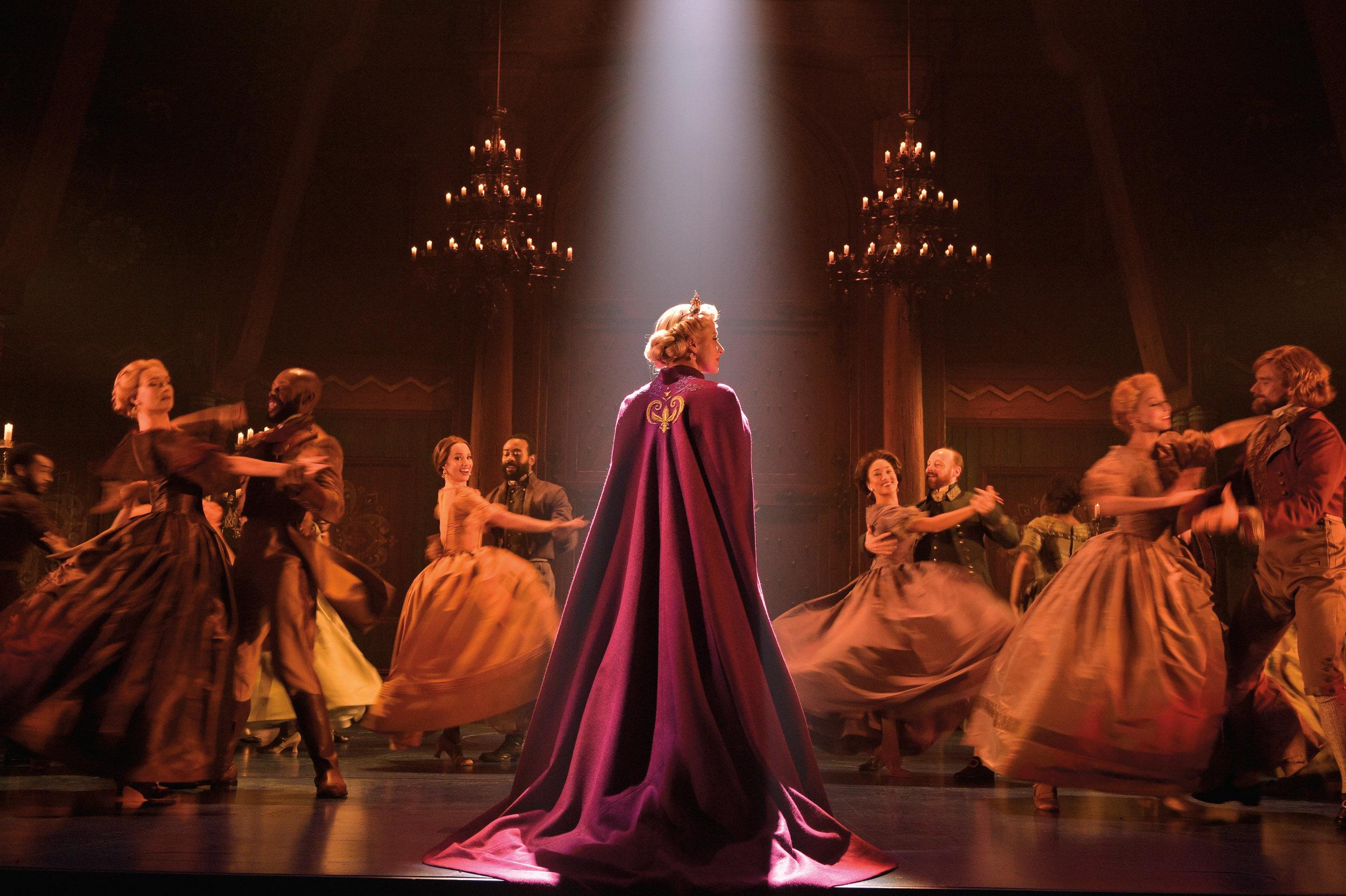 Caissie Levy (Elsa) and the Company of FROZEN on Broadway - Waltz. Photo by Deen van Meer.jpg