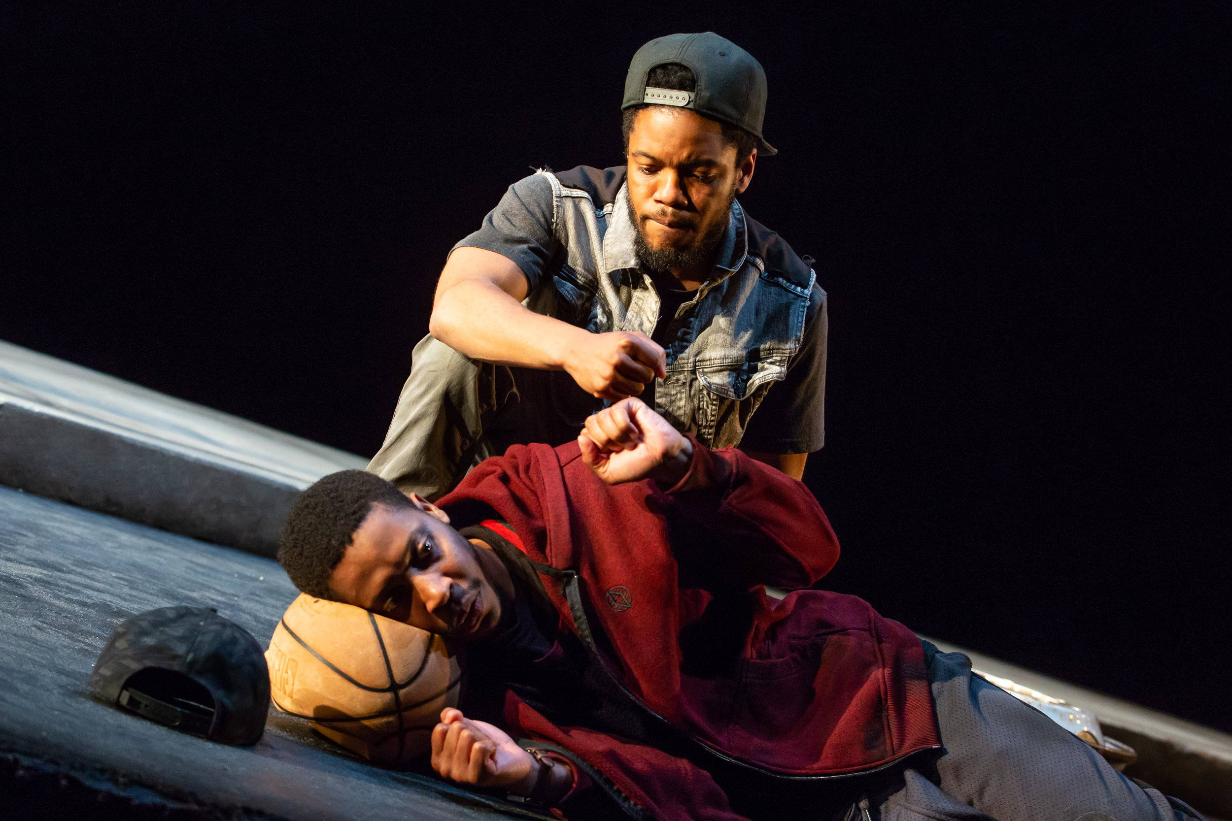 LCT3's PASS OVER - Jon Michael Hill (seated) and Namir Smallwood (laying down) - credit to Jeremy Daniel.jpg