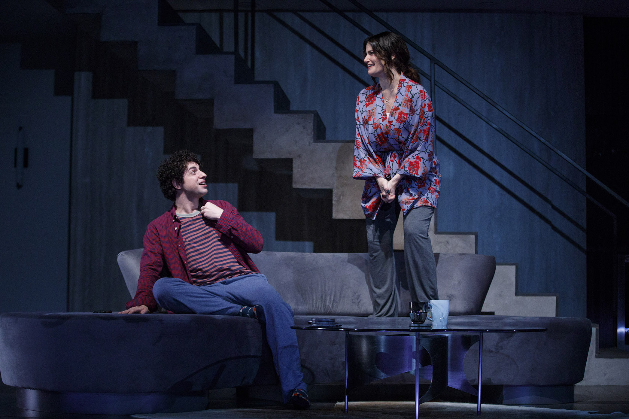 0085r2_Eli Gelb and Idina Menzel in SKINTIGHT, photo by Joan Marcus 2018.jpg