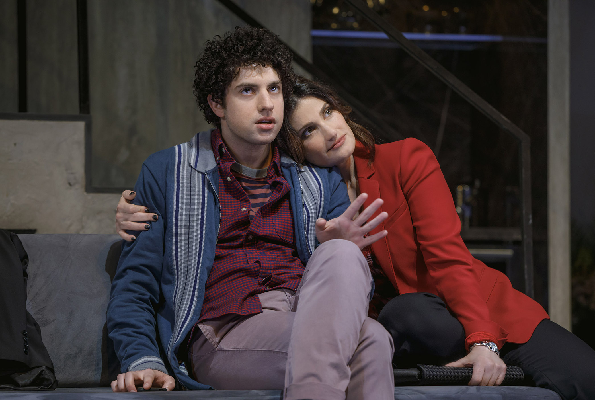 0327r2_Eli Gelb and Idina Menzel in SKINTIGHT, photo by Joan Marcus 2018.jpg