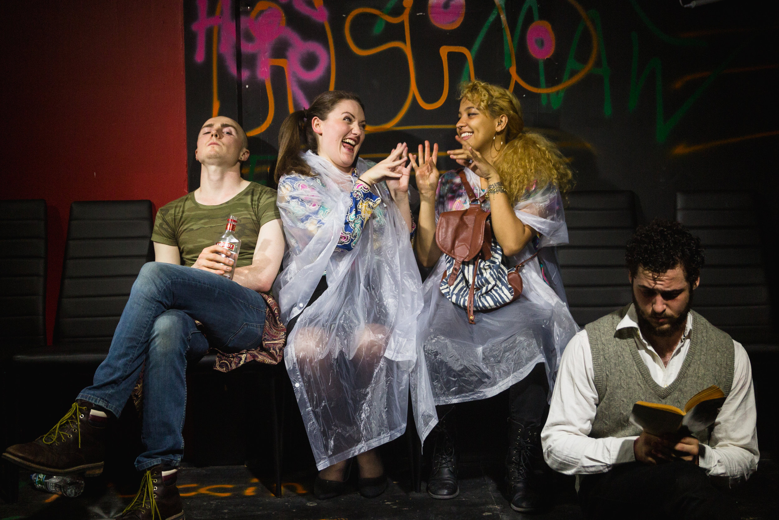 Andrew Barrett, Lauren Downie, Pia Hagen and Oliver Sublet in Trainspotting Live.jpg