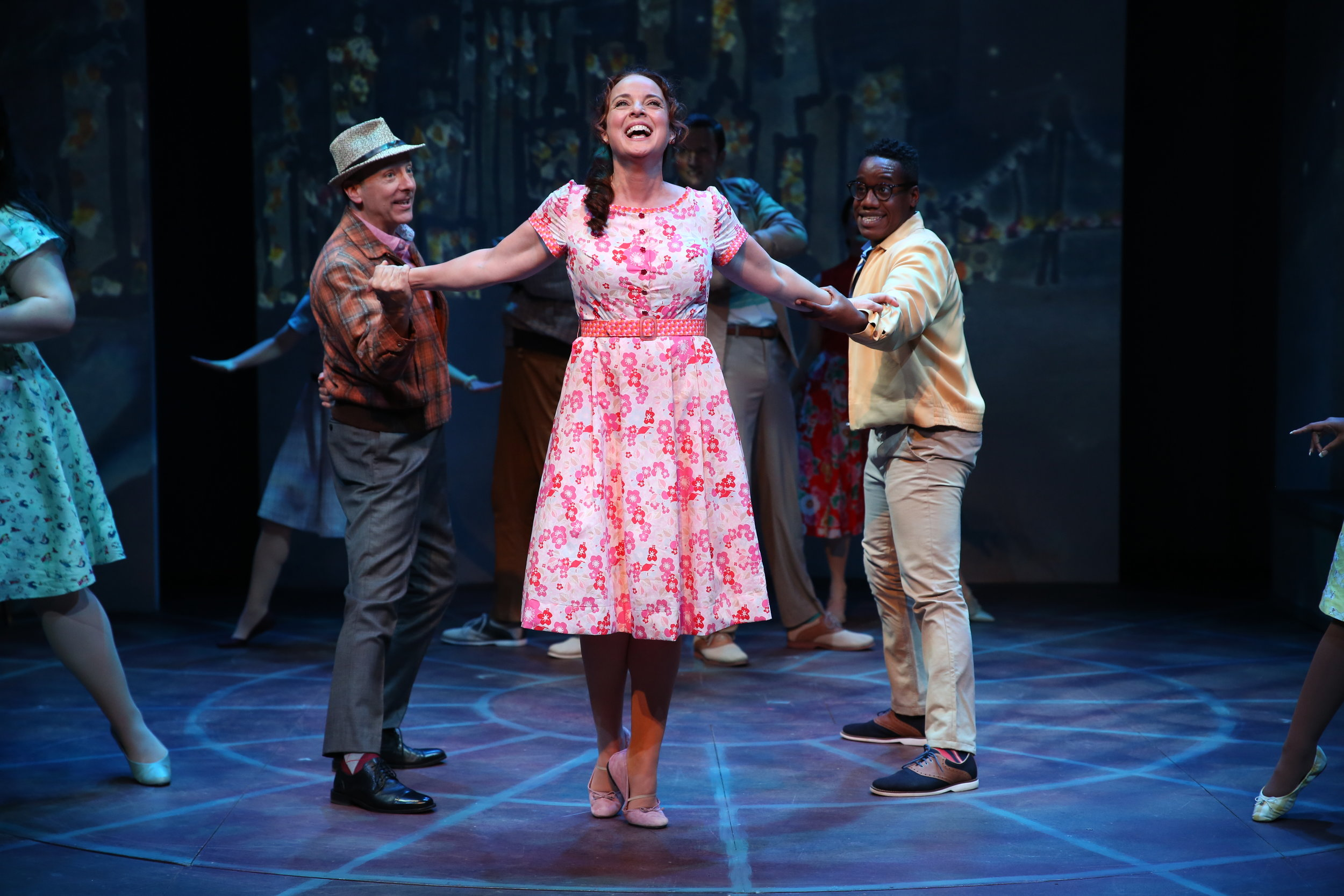 Craig Waletzko, Melissa Errico, and William Bellamy in Irish Rep's ON A CLEAR DAY YOU CAN SEE FOREVER - Photo by Carol Rosegg.JPG