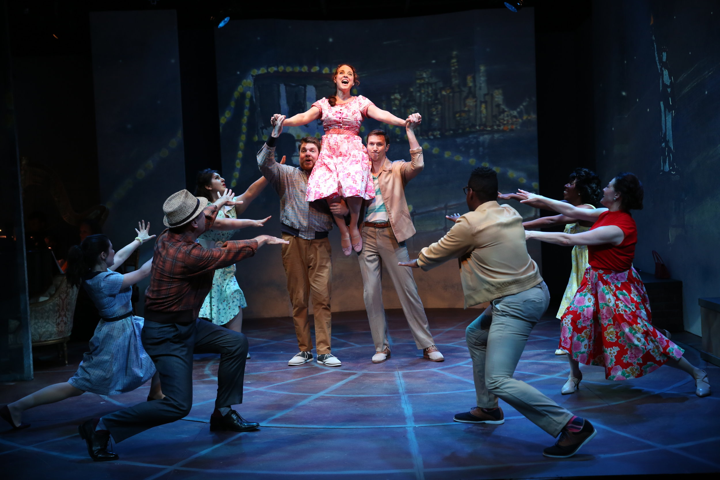 Melissa Errico and the cast of Irish Rep's ON A CLEAR DAY YOU CAN SEE FOREVER - Photo by Carol Rosegg (1).JPG