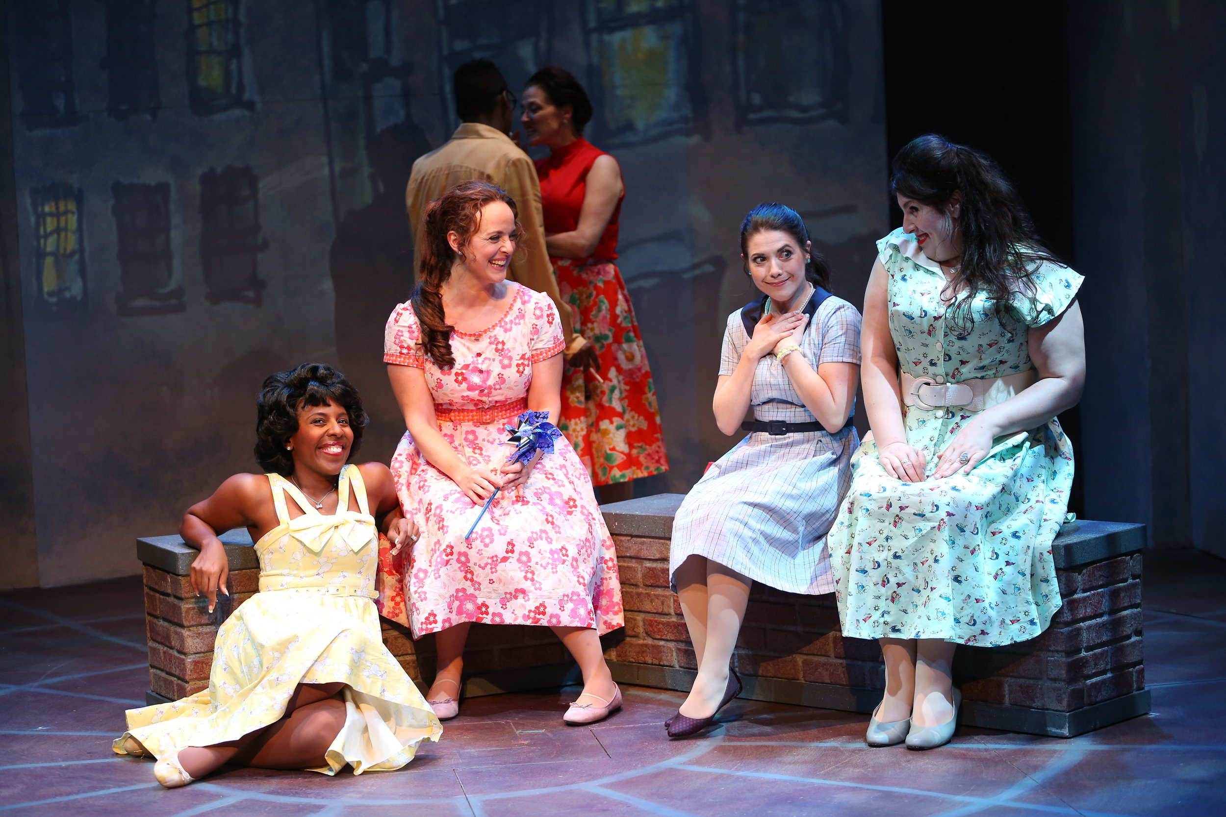 Daisy Hobbs, Melissa Errico, Caitlin Gallogly, and Florrie Bagel in Irish Rep's ON A CLEAR DAY YOU CAN SEE FOREVER - Photo by Carol Rosegg.JPG