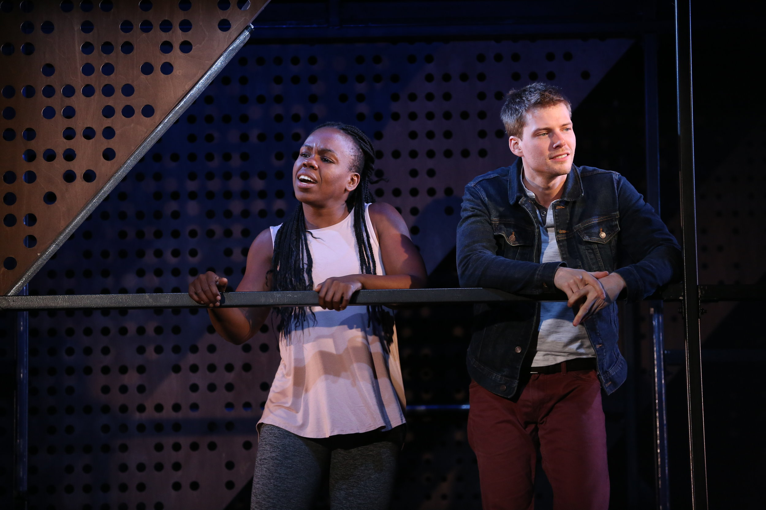 GoodGrief0018 Ngozi Anyanwu and Hunter Parrish  Photo by Carol Rosegg.JPG