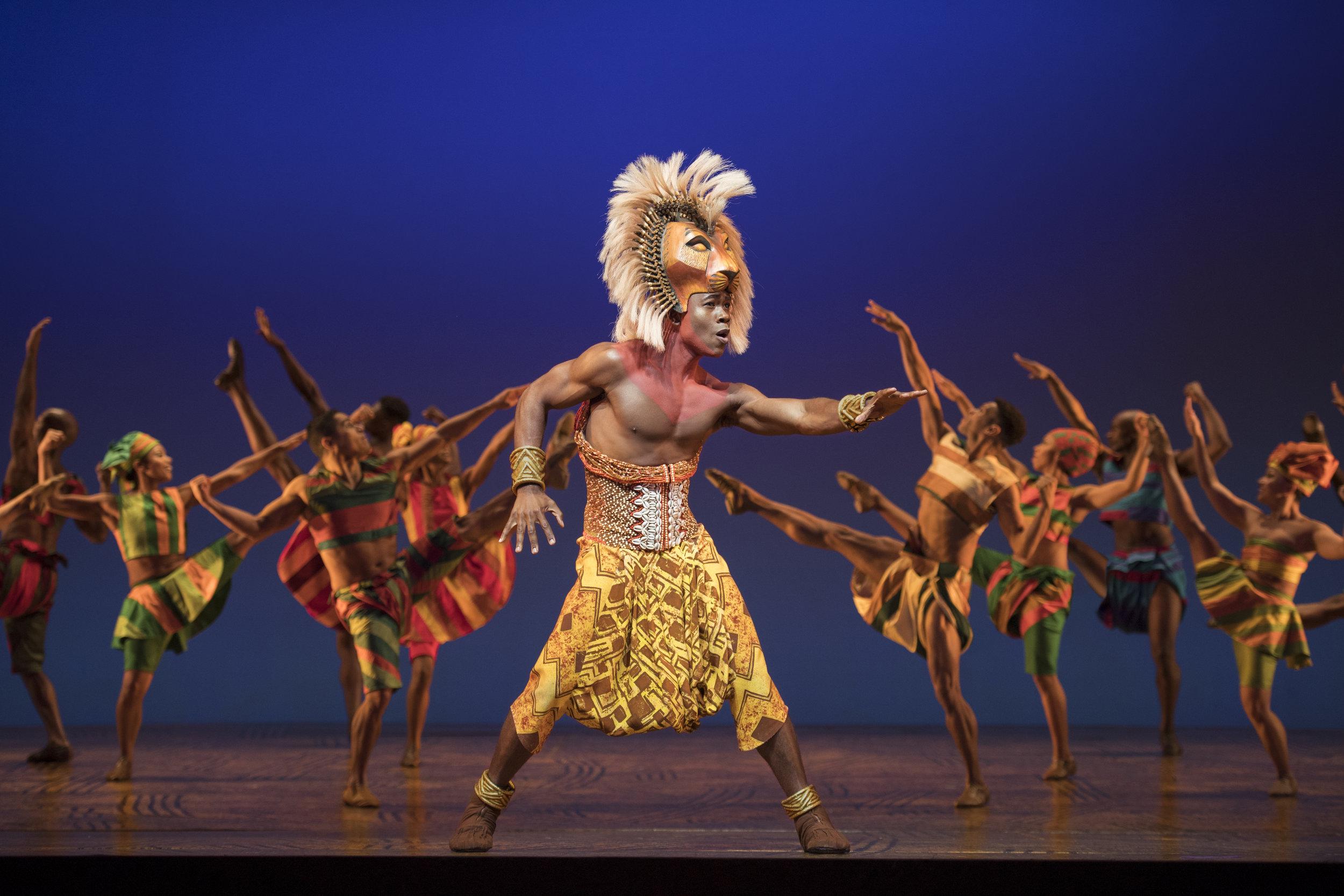 Bradley Gibson as Simba and Ensemble. Photo by Deen van Meer.jpg