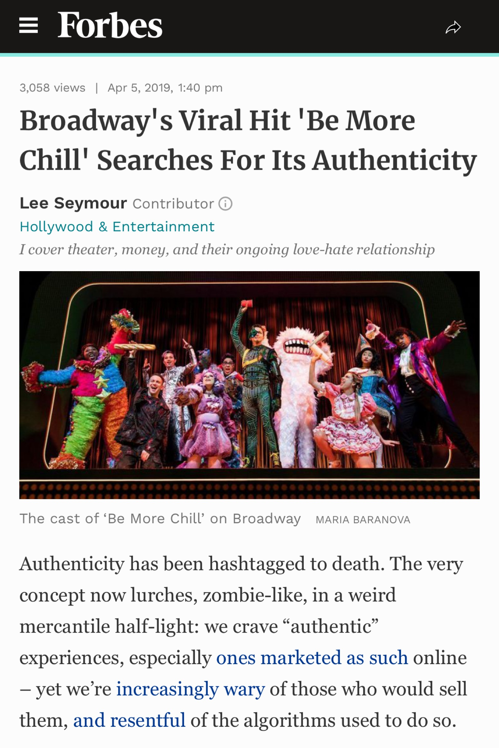 Check out  this article  on YesBroadway's influencer marketing work on  Be More Chill.