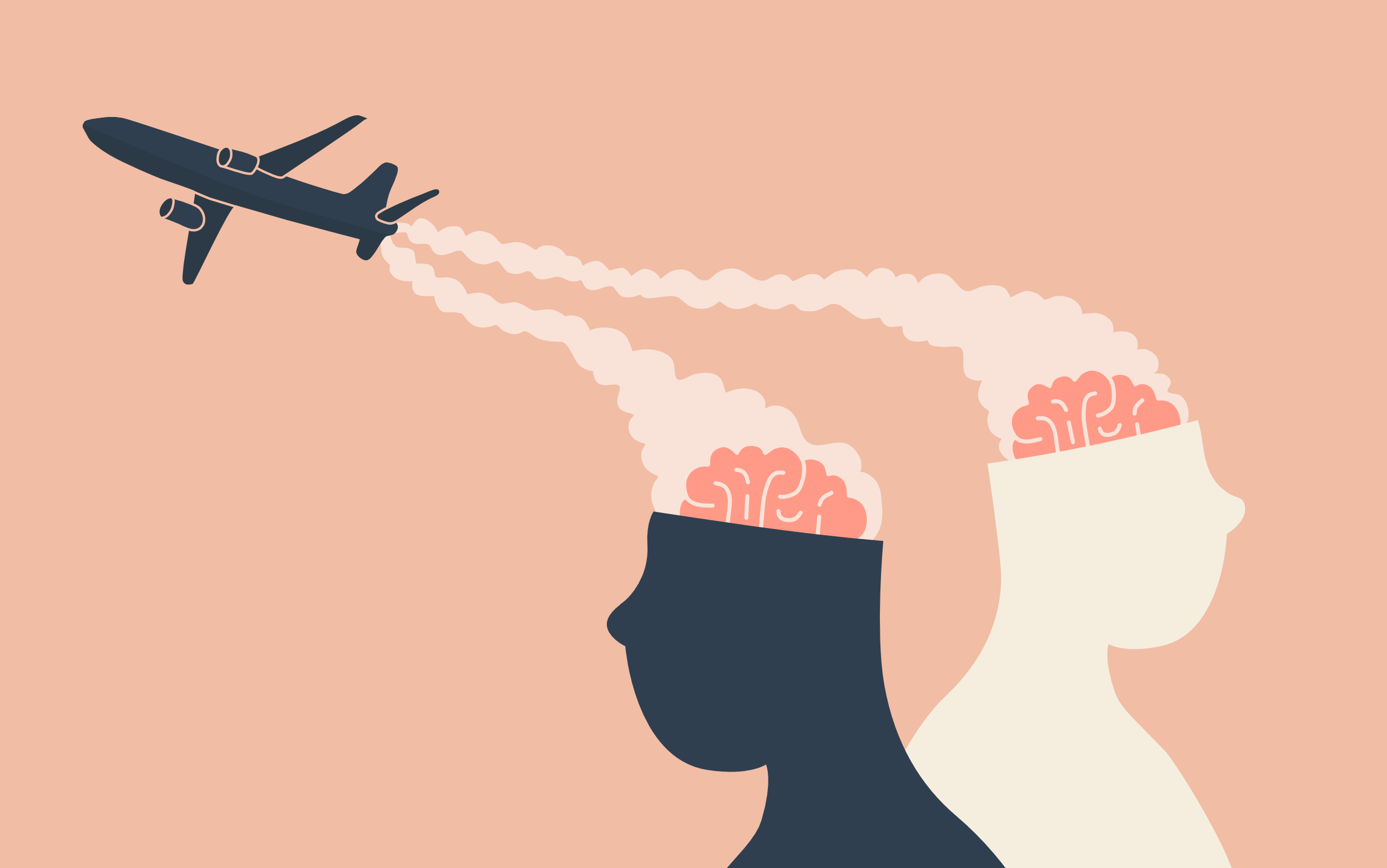 Illustration for a VICE News article on Chemtrails.