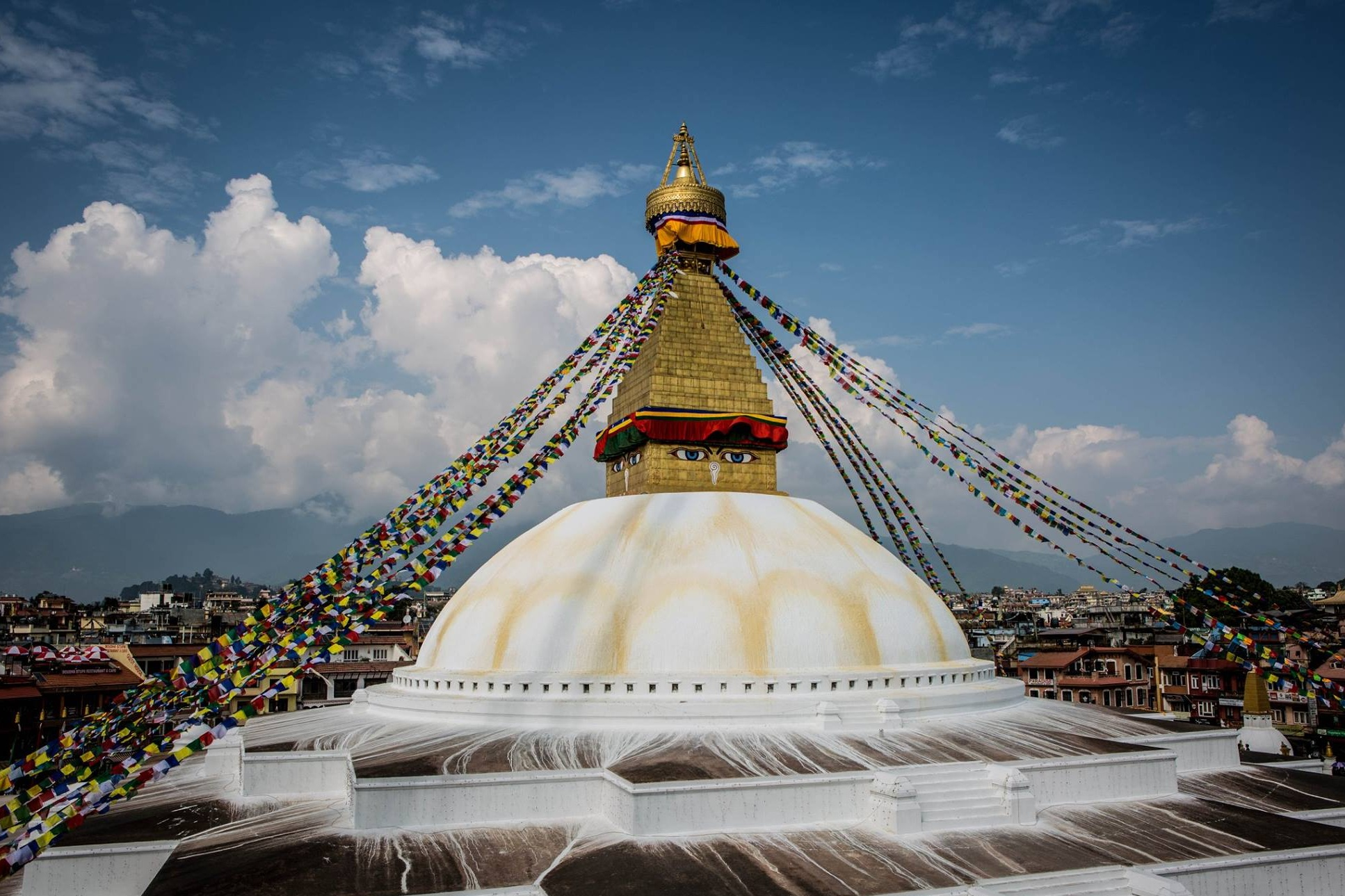 Boudhanath Stupa - The heart of Boudha, the Tibetan quarter of Kathmandu, surrounded by dozens of monasteries from every school of Buddhism. This is the Jokhang of Nepal.