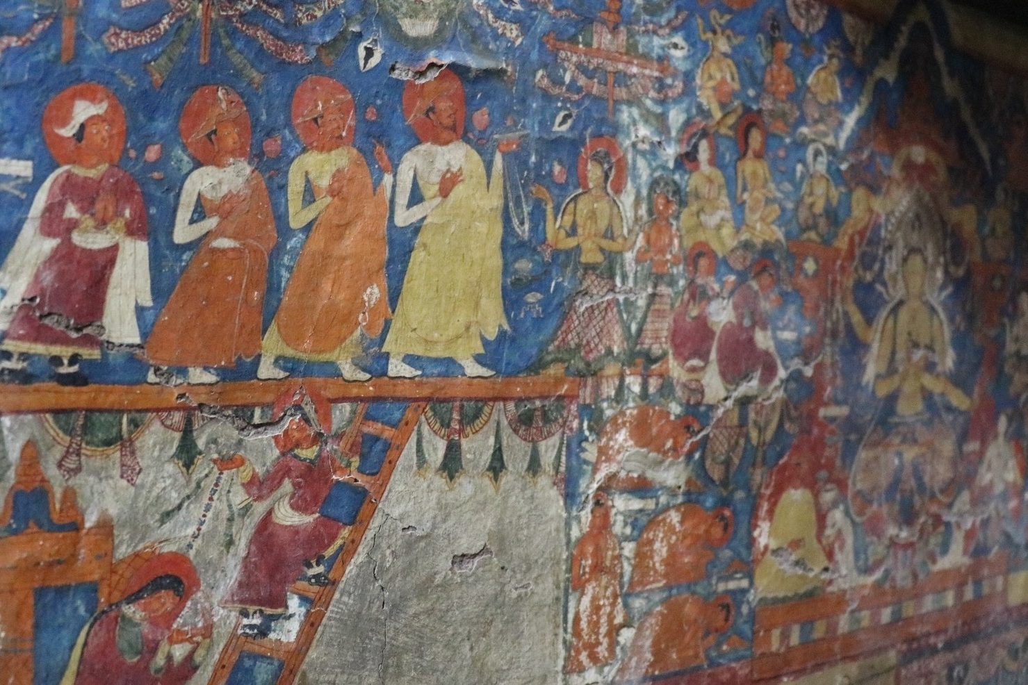 Alchi Choskhor - Intricate and colourful murals line the walls here, displaying Buddhist imagery with Silk Road influences.