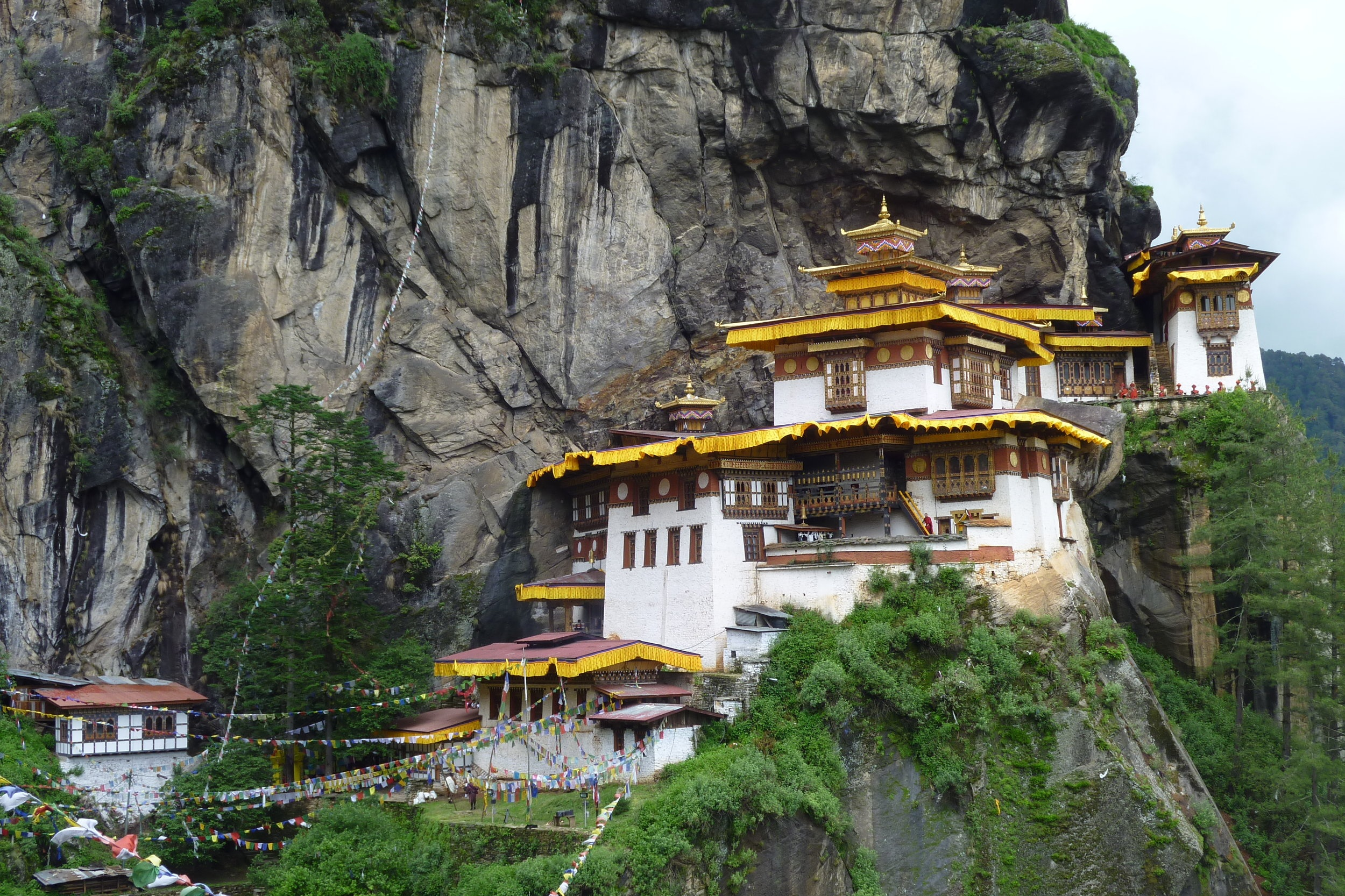 Tiger's Nest - After visiting the monasteries and temples in Paro, climb up to this cliff-hugging retreat that was the abode of Padmasambhava in the 8th century.