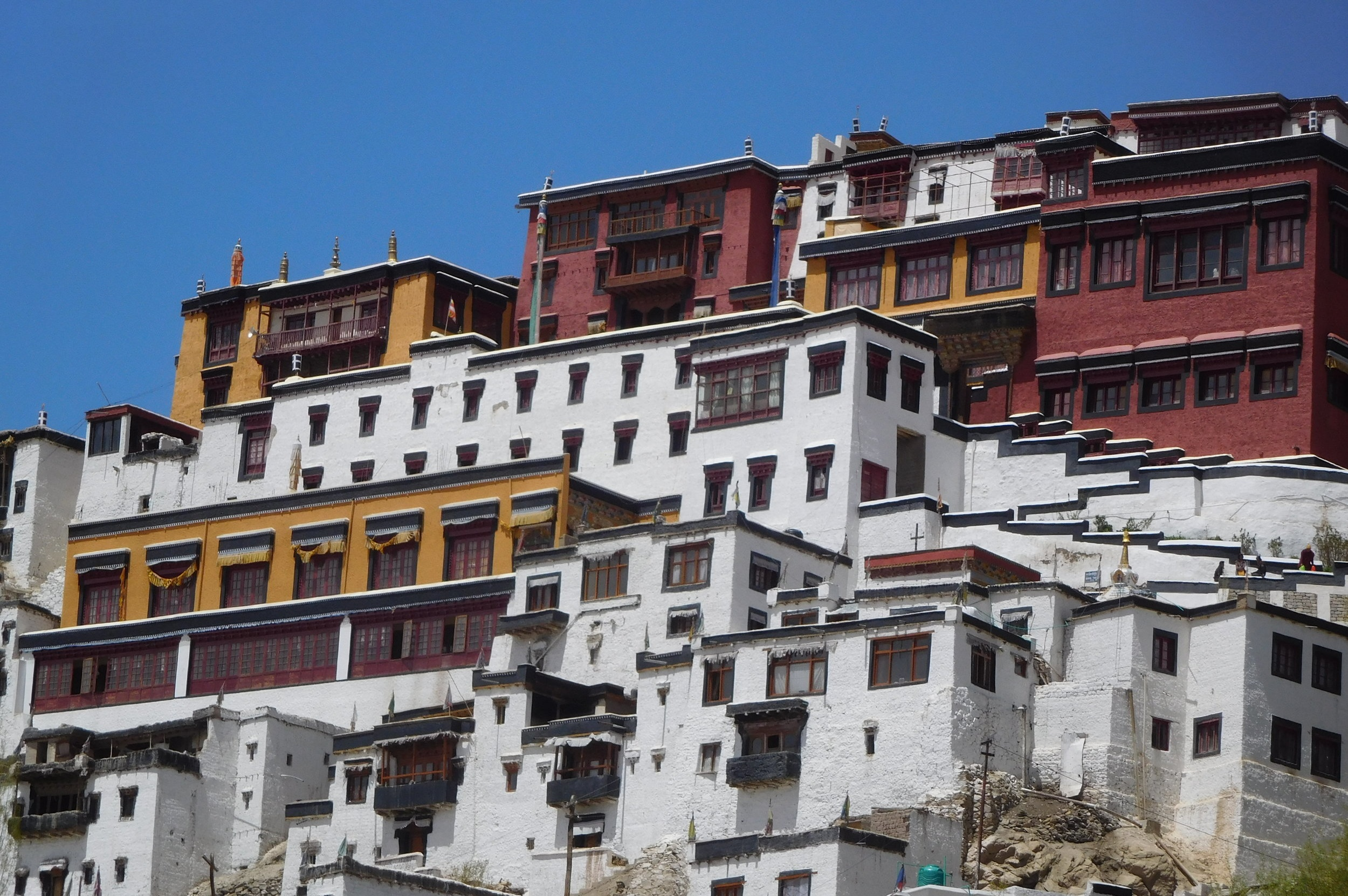 Thiksey Gompa - Ladakh's mini Potala Palace, favoured by the Dalai Lama as a site for giving teachings each summer.