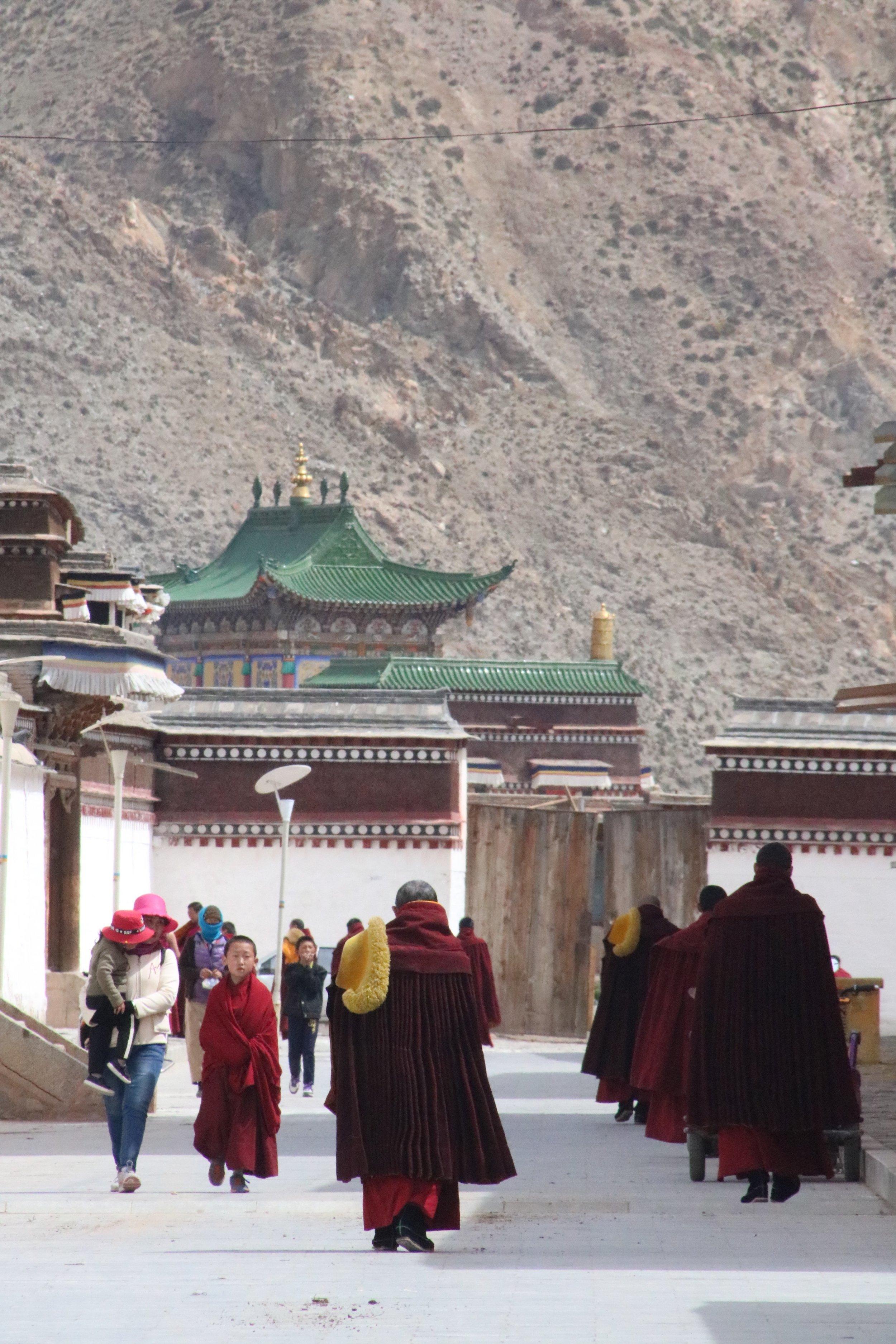Inside Labrang Monastery.