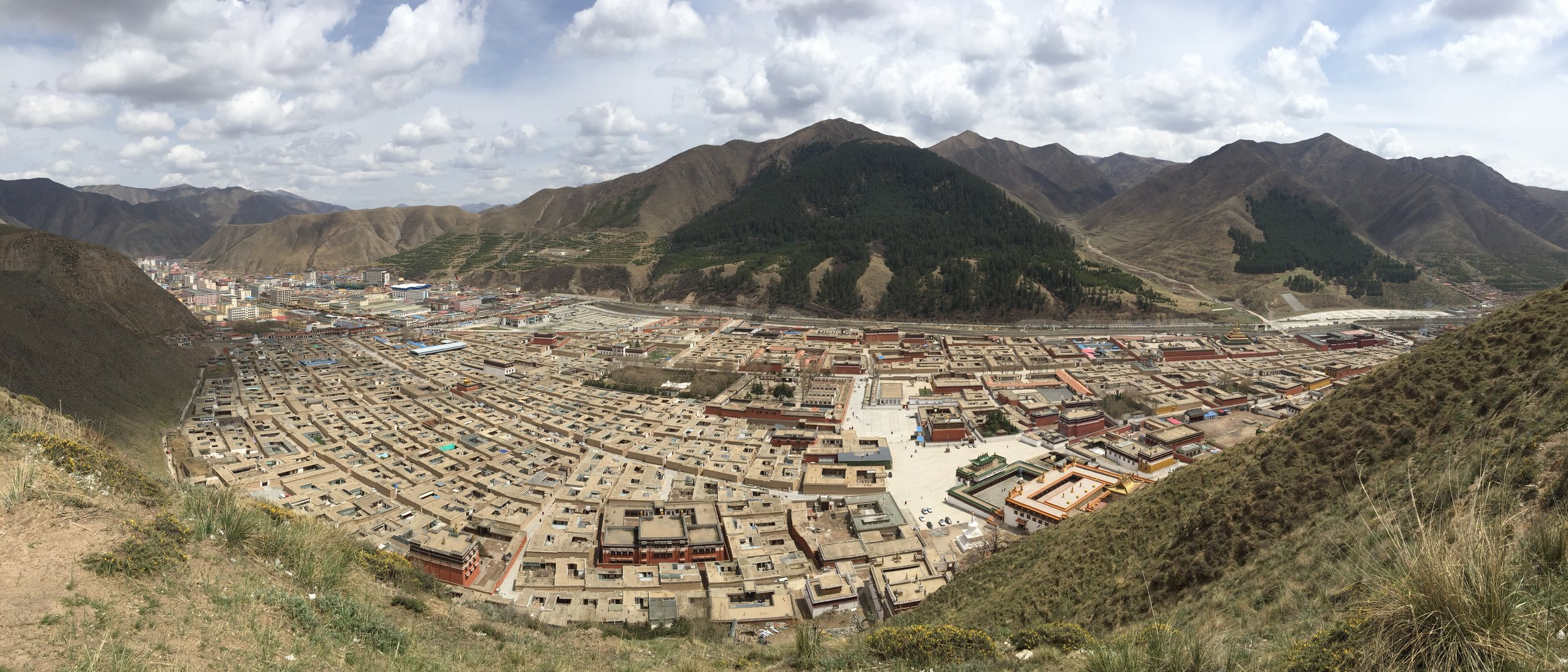 Looking down at Labrang from the outer kora.