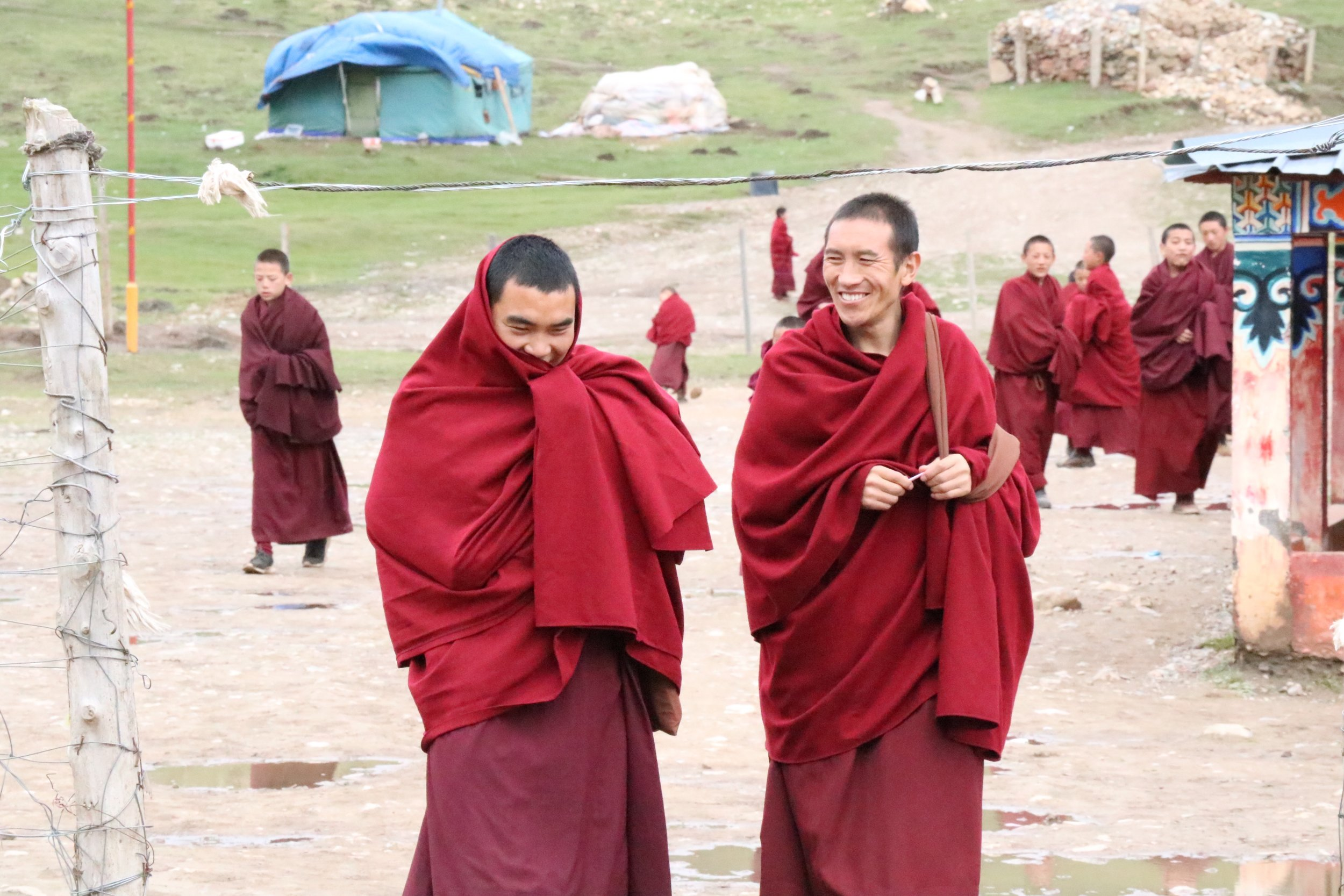 Monks at Sertri Monastery.