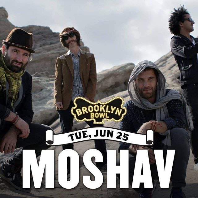 Proud to announce this amazing @moshavband concert on June 25th at the one and only @brooklynbowl !!! . . . . . #blessed #dreams #reality #moshav #bk #brooklyn #bowl #jams #livemusic #israel #moshavband #entertainment #hedgehog #summer #folk #rock #production #relix