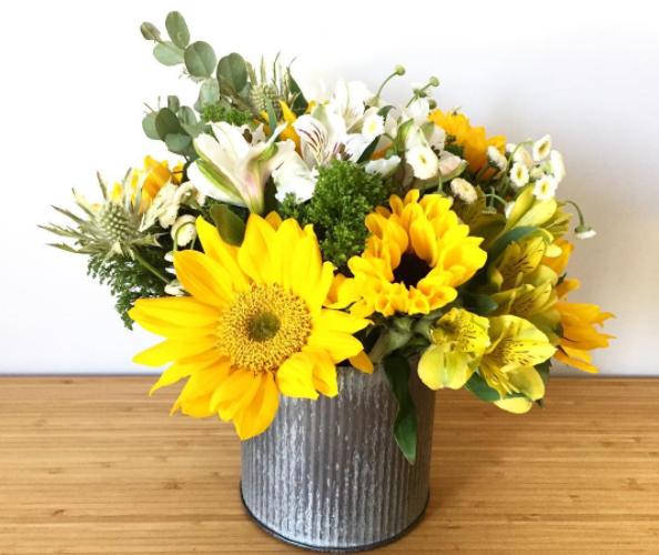 Domonique Rose Sunflower arrangment