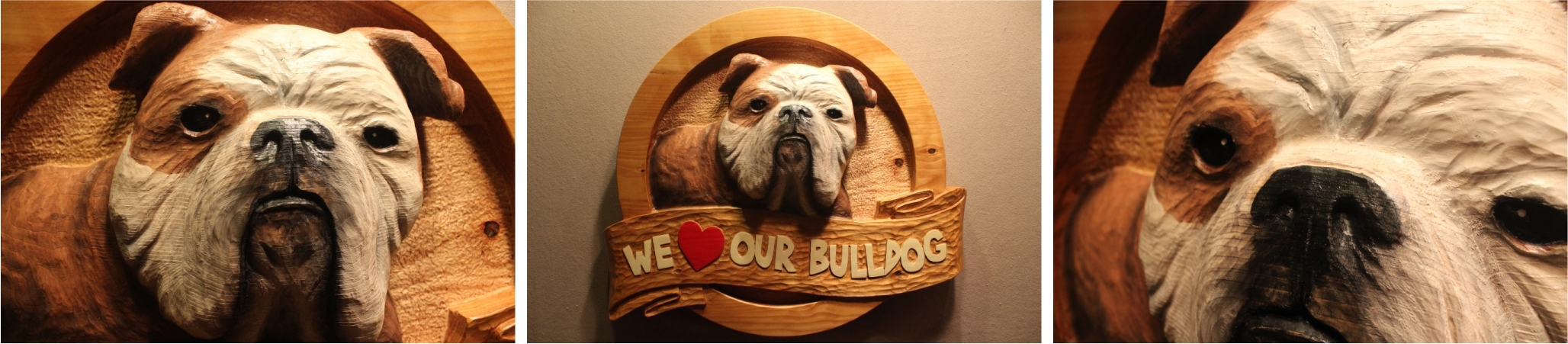 Custom Carved Dog Signs by Fox Wood Signs