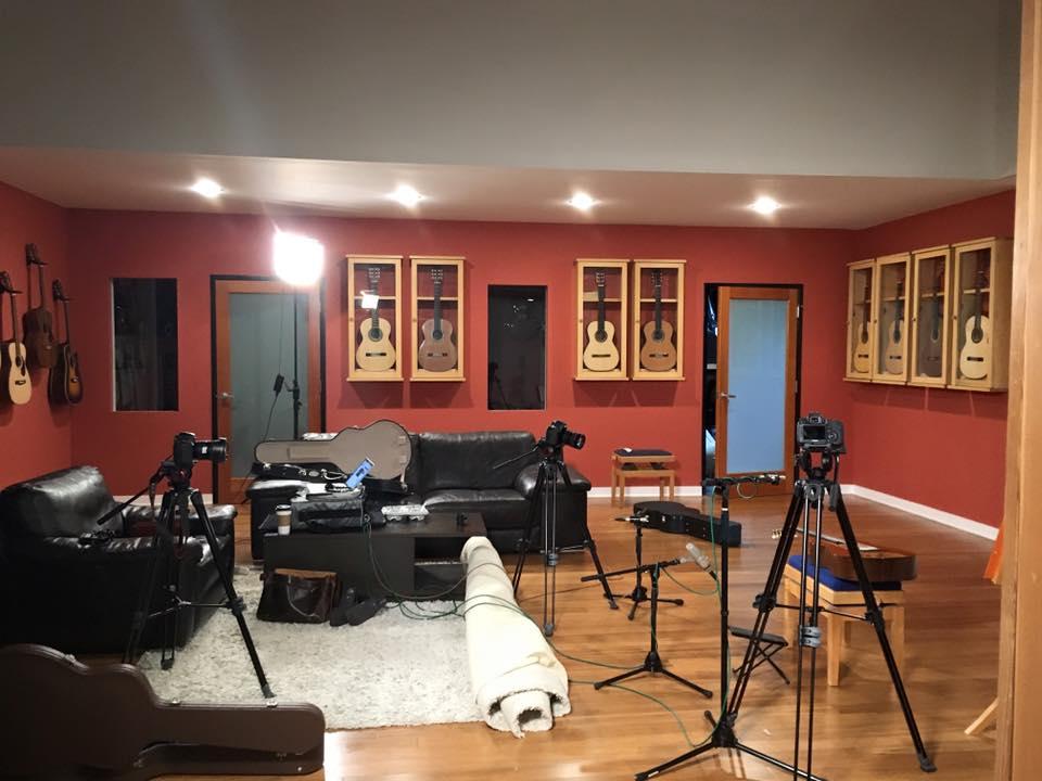 Recording at Guitar Salon International in Los Angeles, California