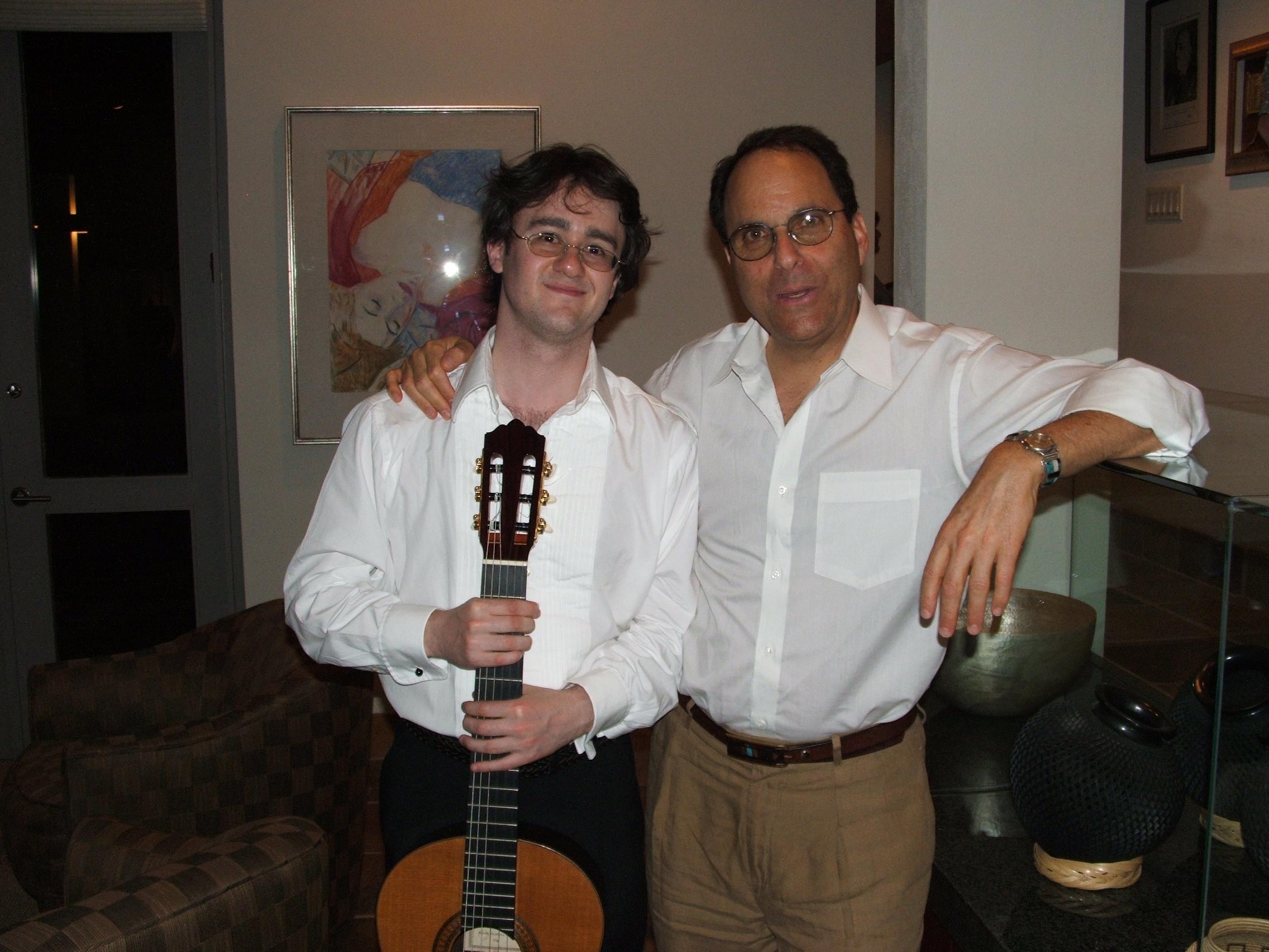 With composer Daniel Asia in Tucson, Arizona