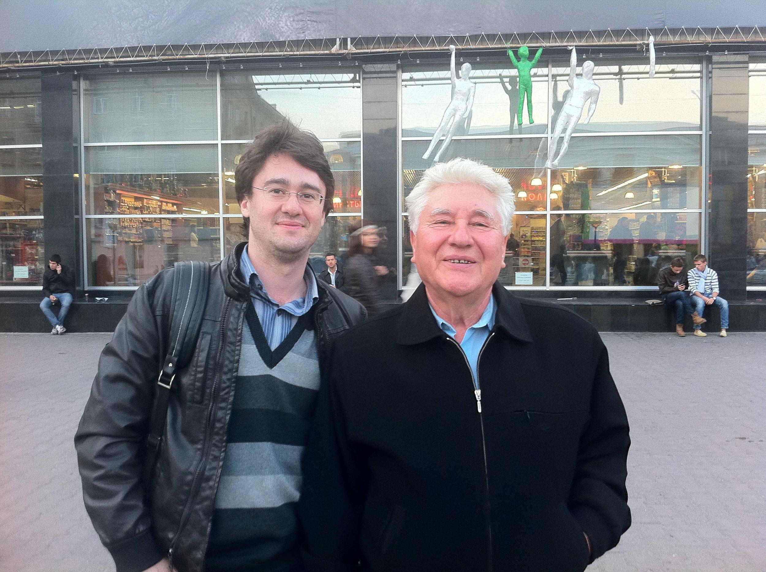 In Russia in 2011 with Professor Yuriy Kuzin