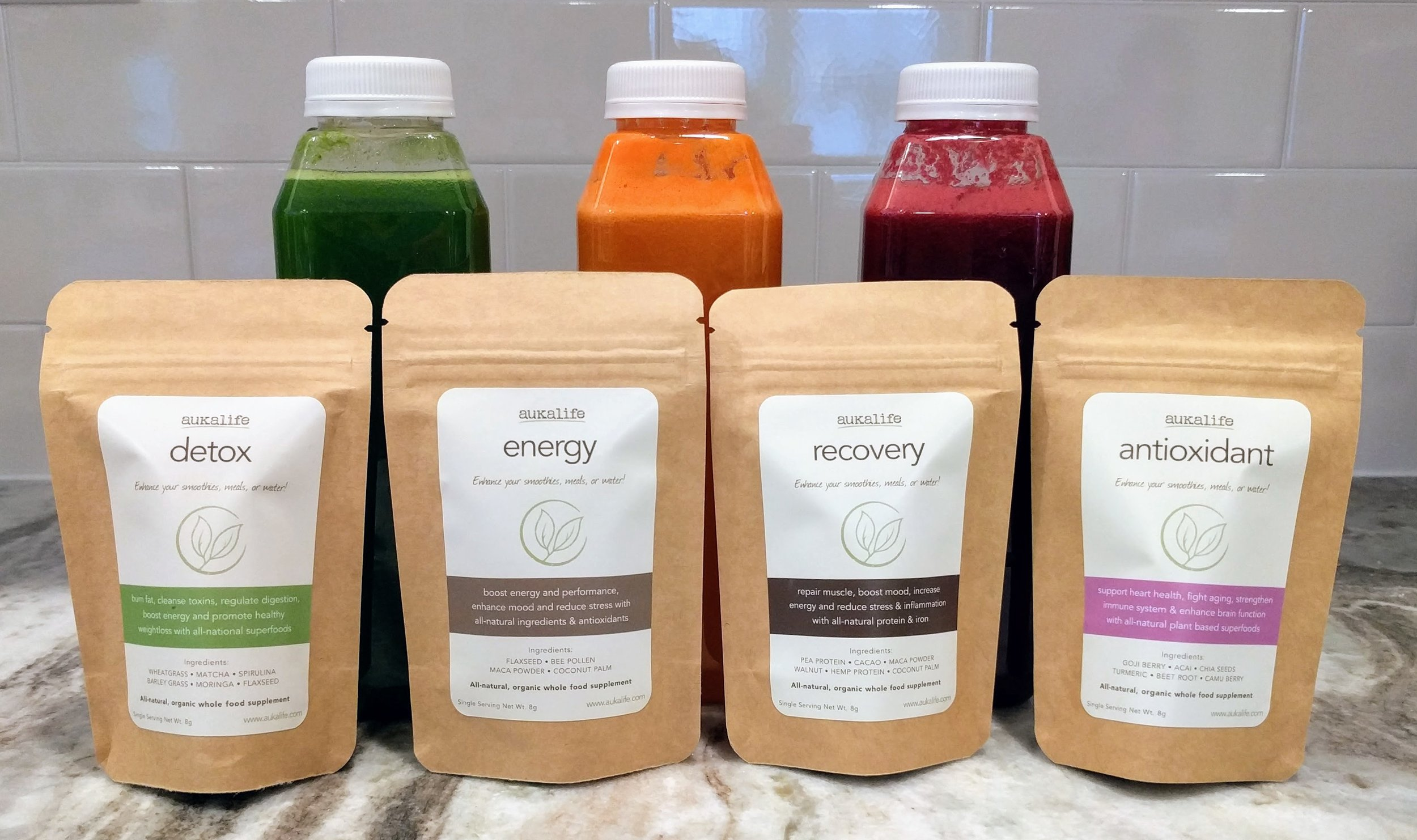These are her beautiful products – I've tried them all. Detox is my fave!  Order here and support her campaign!
