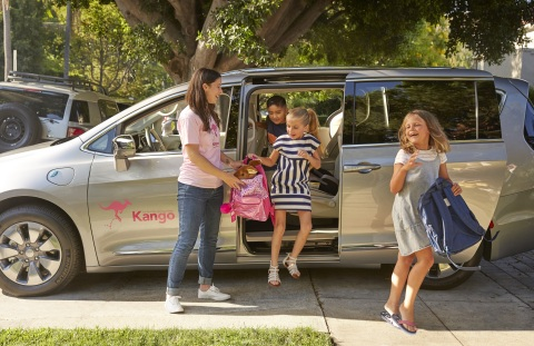 Kango is an award-winning app-based rideshare and childcare service for busy families, providing trusted rides to get kids wherever they need to go. (Photo: Business Wire)